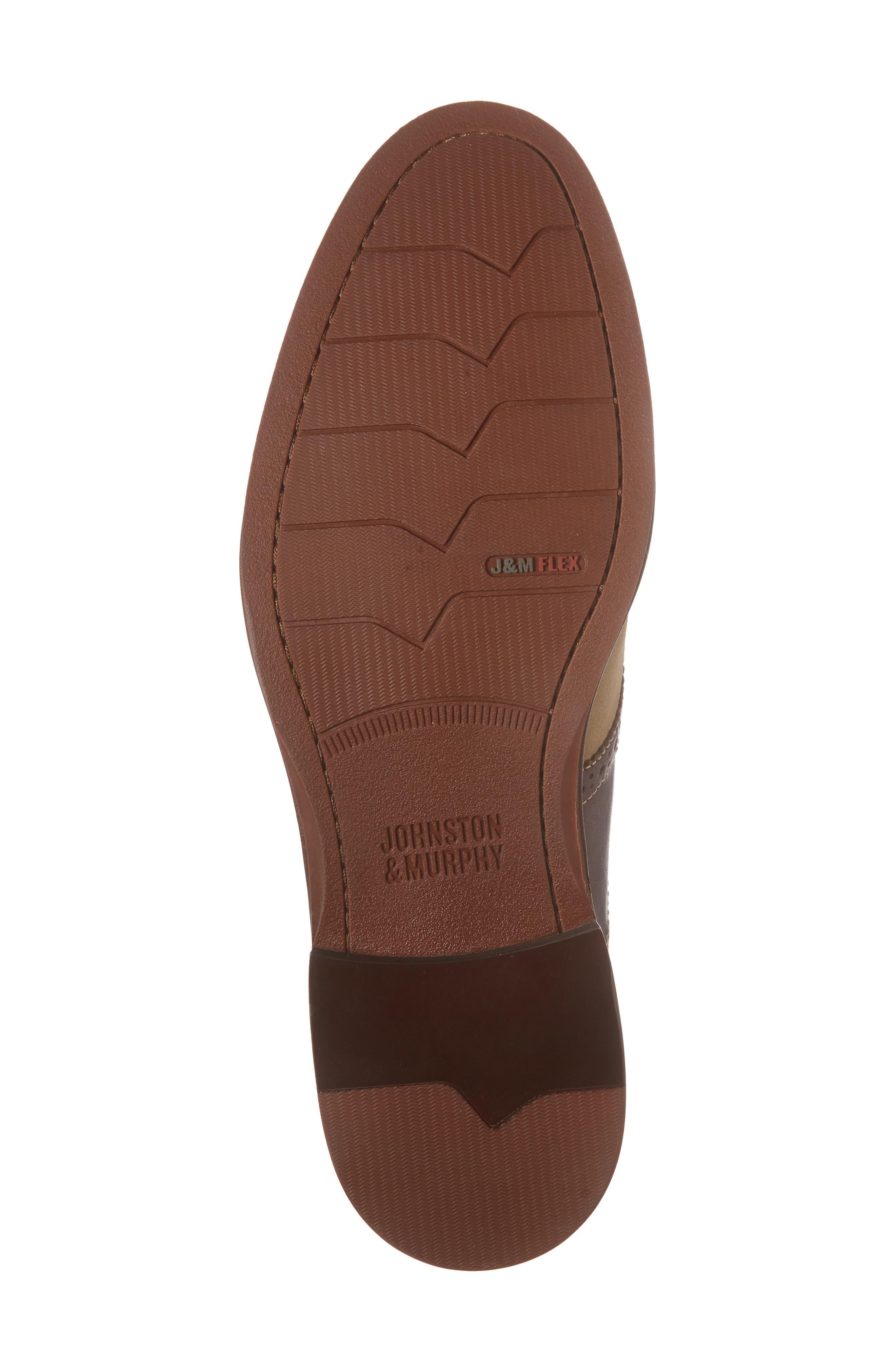 Warner Saddle Shoe,                             Alternate thumbnail 6, color,                             Camel Nubuck