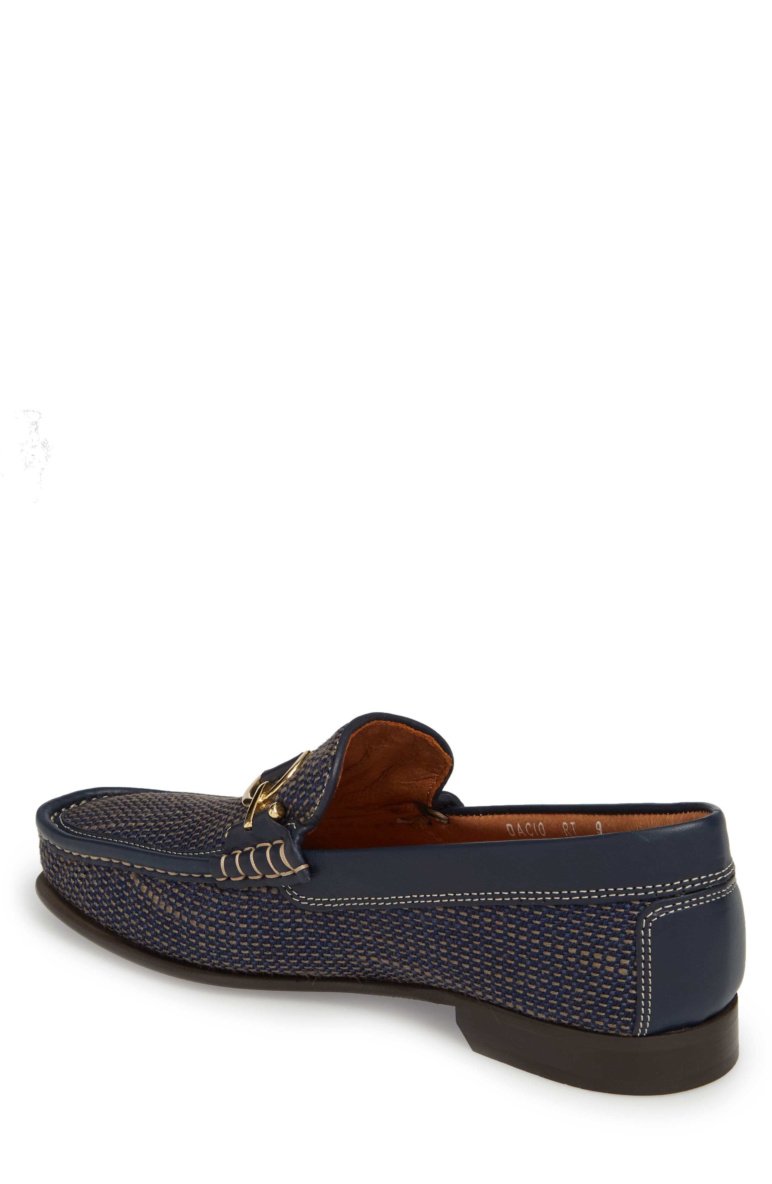 Dacio Woven Bit Loafer,                             Alternate thumbnail 2, color,                             Navy Leather