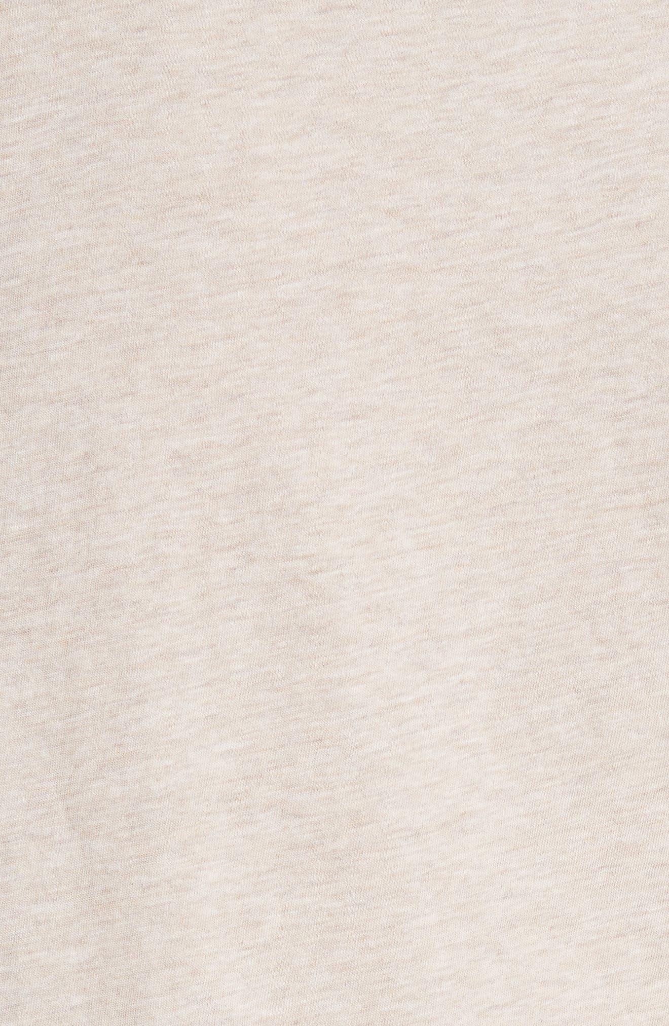 Essential Pima Cotton V-Neck Tee,                             Alternate thumbnail 5, color,                             H Burlap