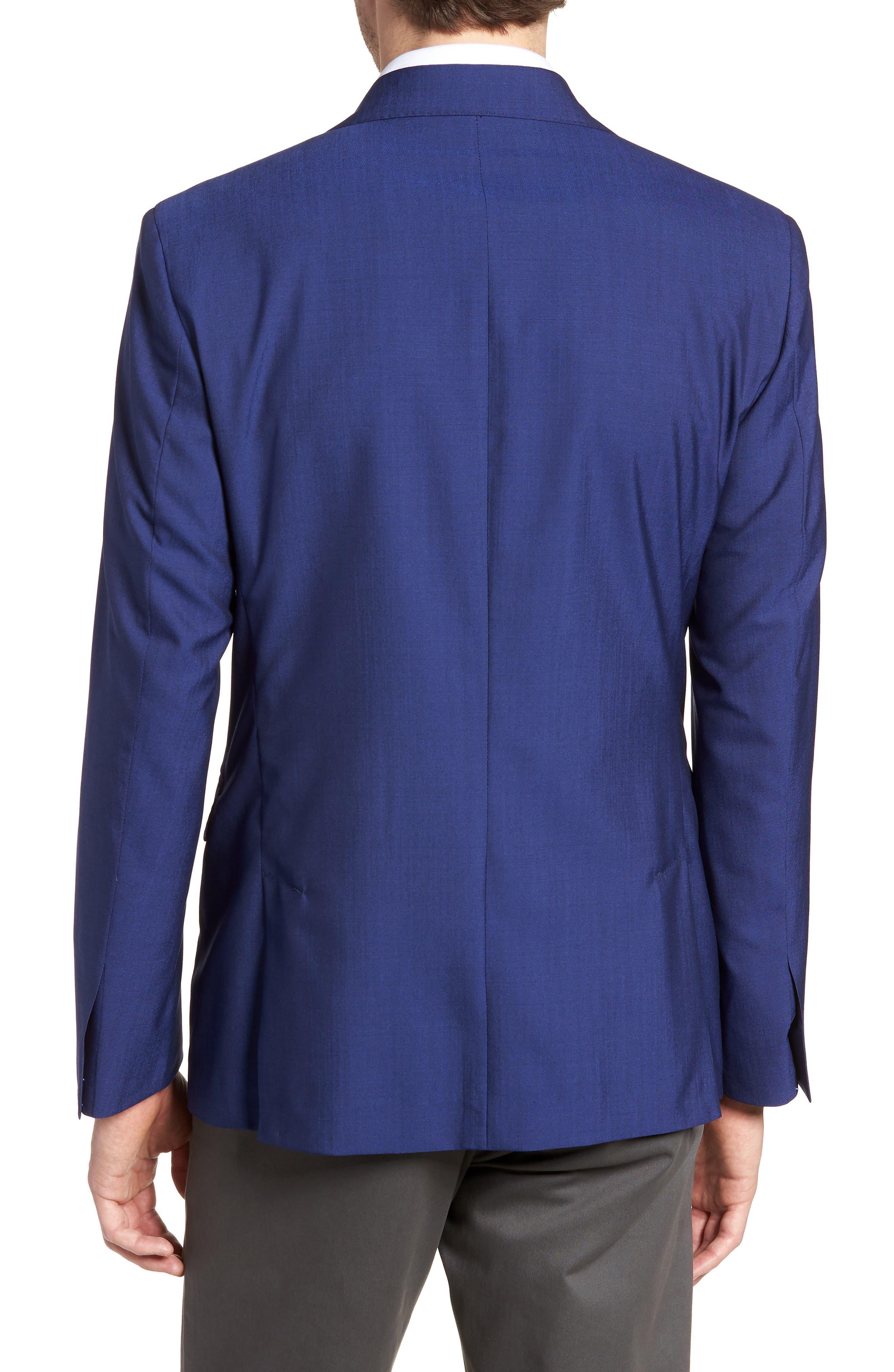 Shelby Trim Fit Wool Blazer,                             Alternate thumbnail 2, color,                             High Blue
