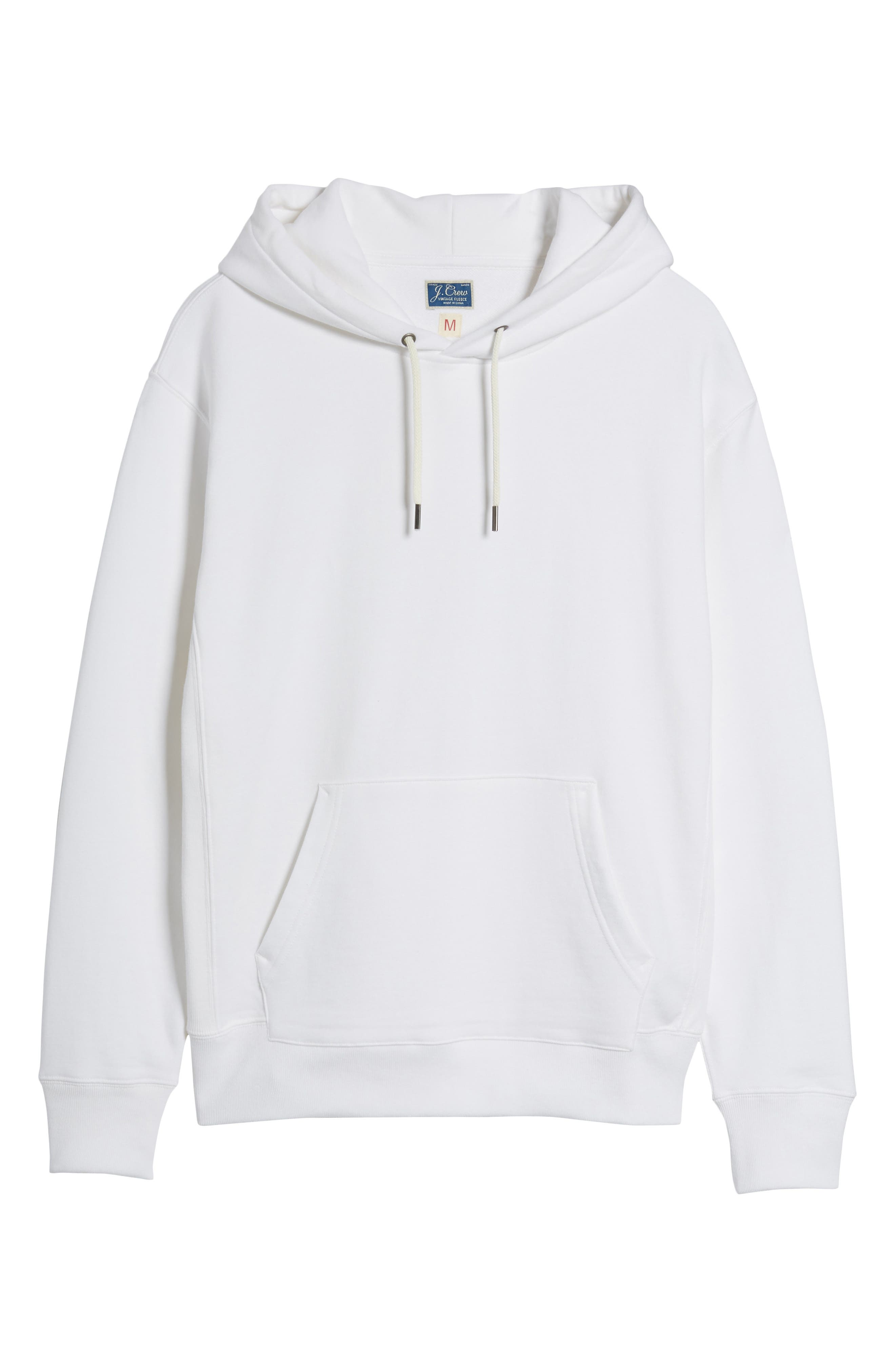 Garment Dyed French Terry Hoodie,                             Alternate thumbnail 3, color,                             White