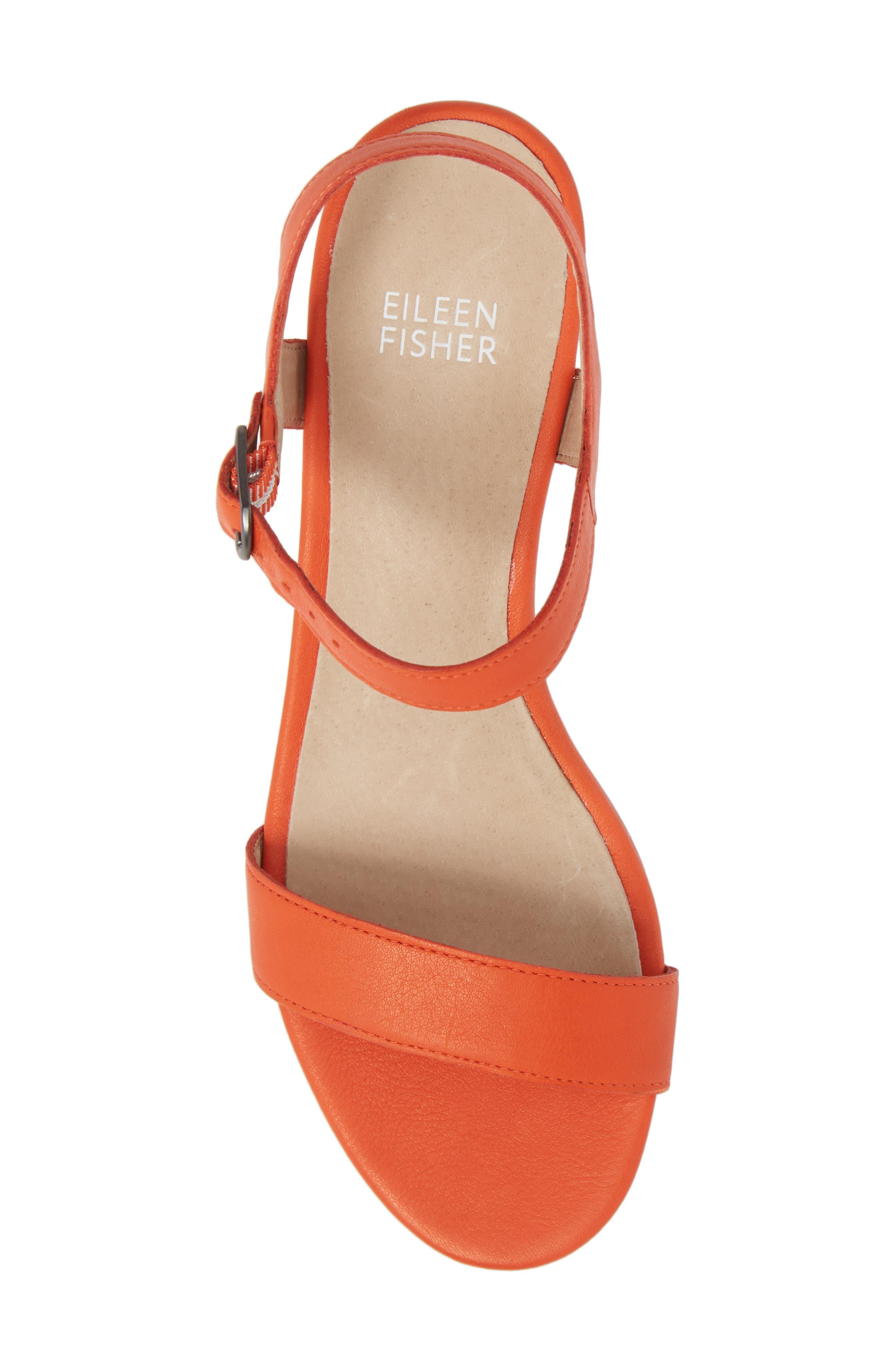 Olean Quarter Strap Sandal,                             Alternate thumbnail 5, color,                             Blood Orange Leather