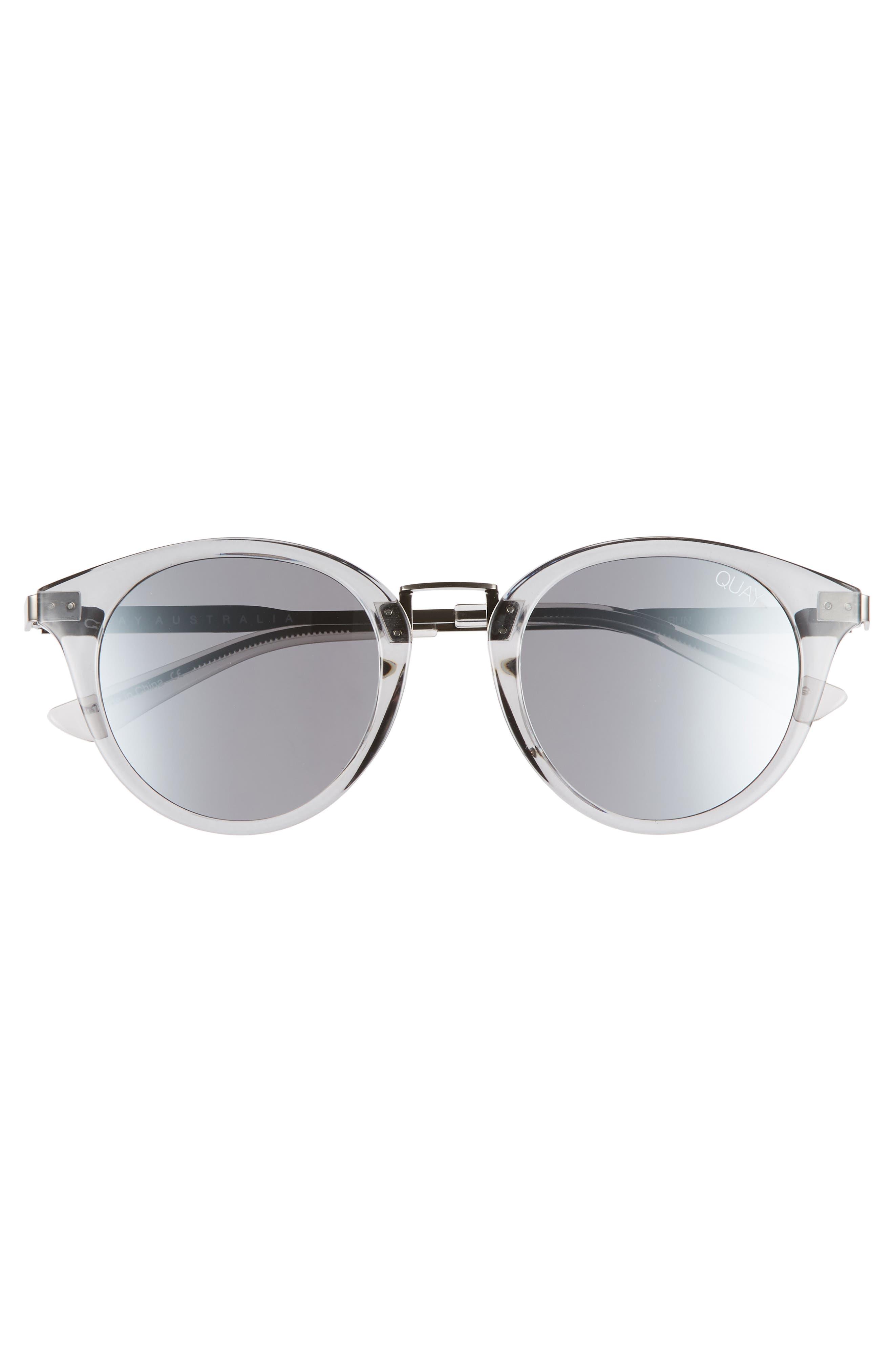 Gotta Run 48mm Sunglasses,                             Alternate thumbnail 3, color,                             Grey/ Silver