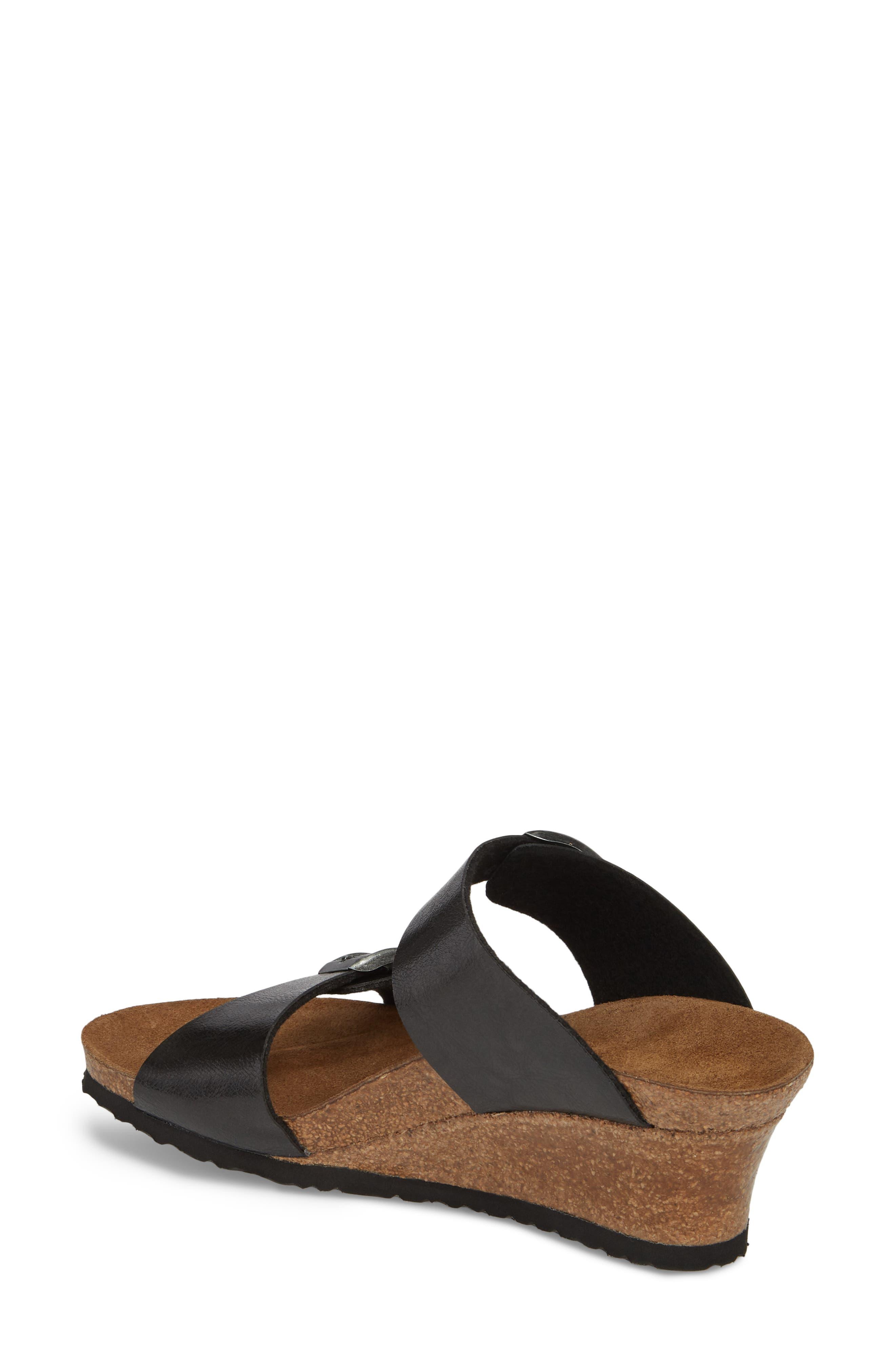 Papillio by Birkenstock Dorothy Wedge Slide Sandal,                             Alternate thumbnail 2, color,                             Graceful Licorice Leather