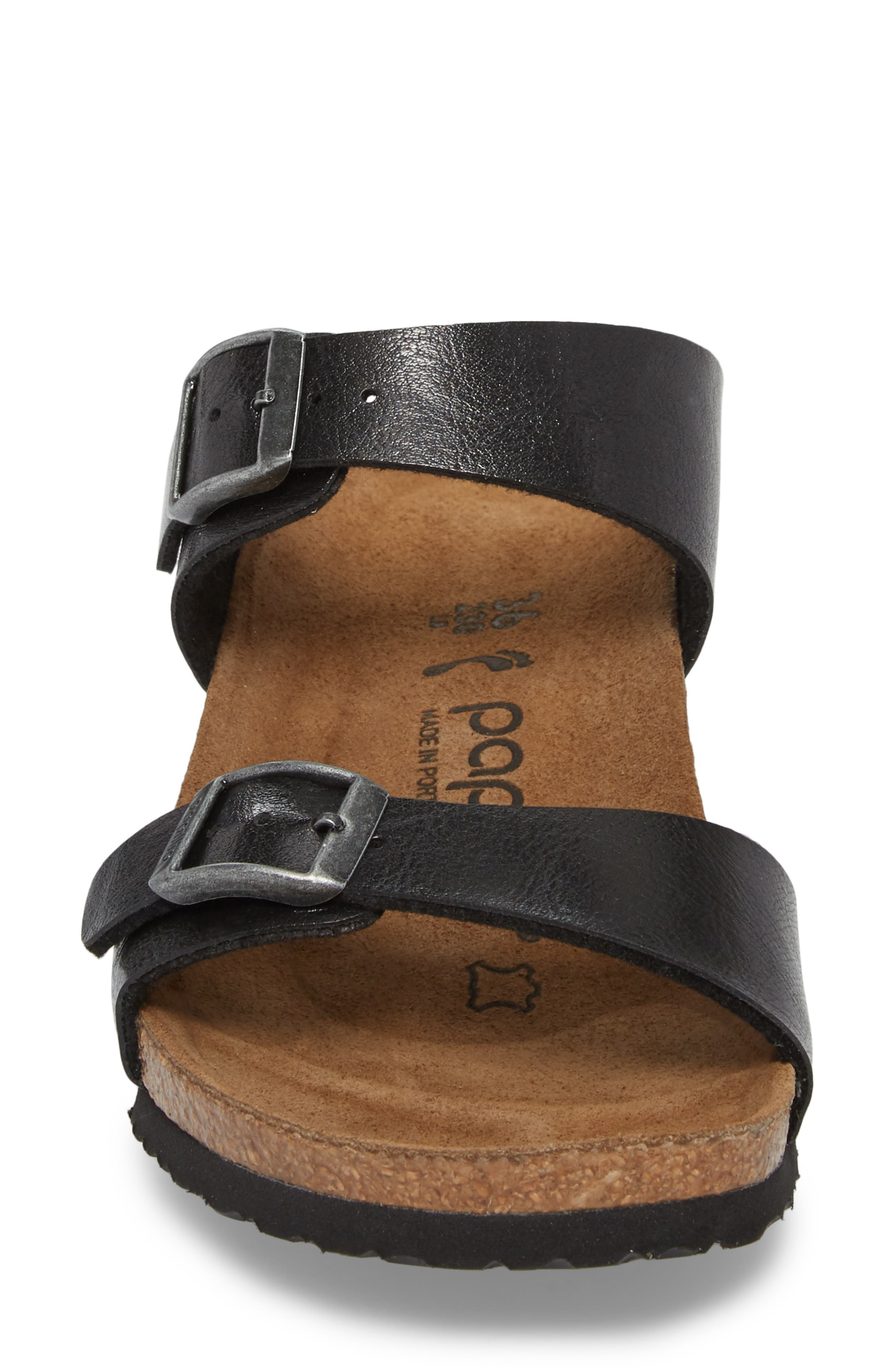 Papillio by Birkenstock Dorothy Wedge Slide Sandal,                             Alternate thumbnail 4, color,                             Graceful Licorice Leather