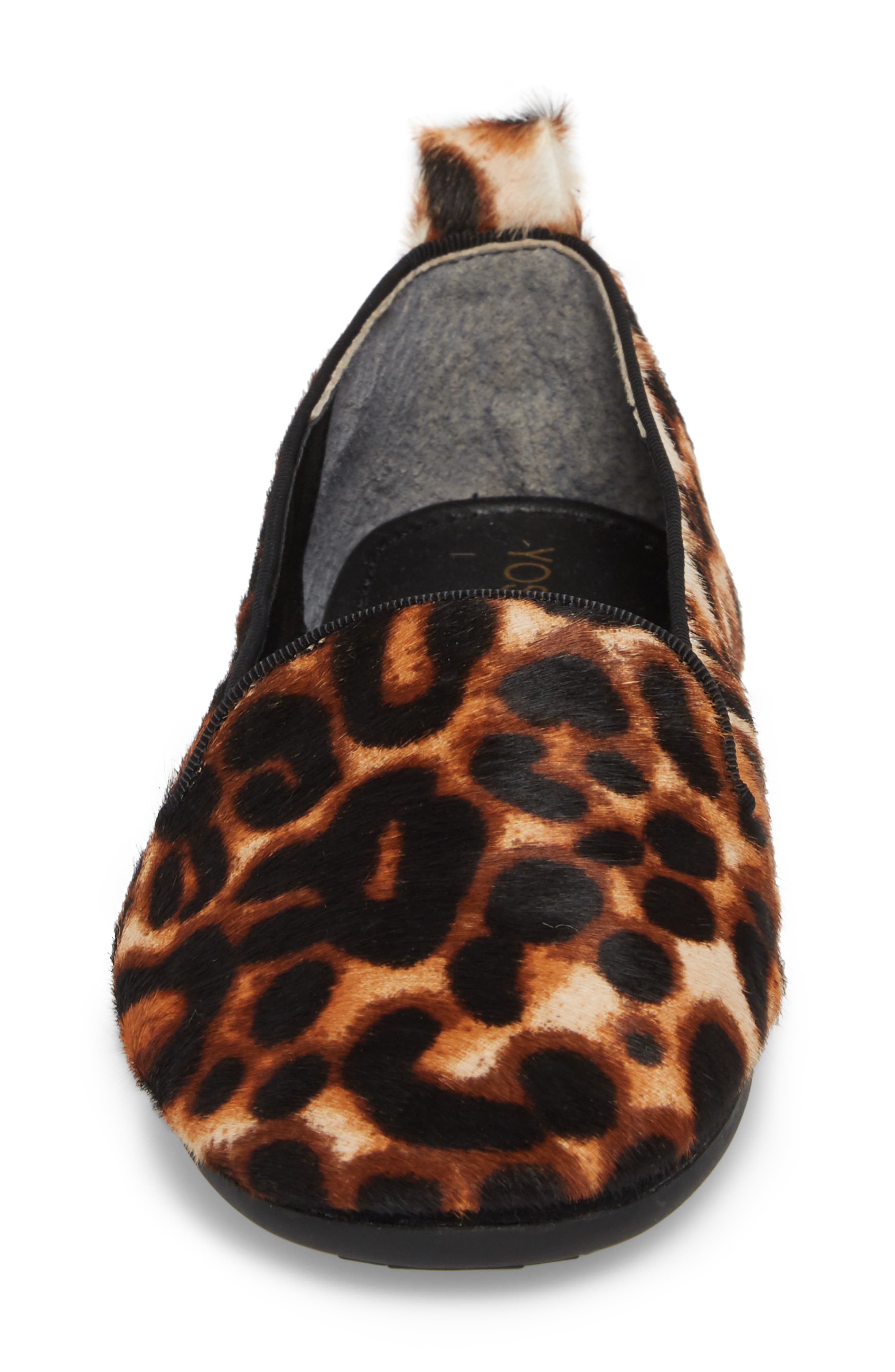 Silva Genuine Calf Hair Loafer,                             Alternate thumbnail 4, color,                             Natural Leopard Calf Hair