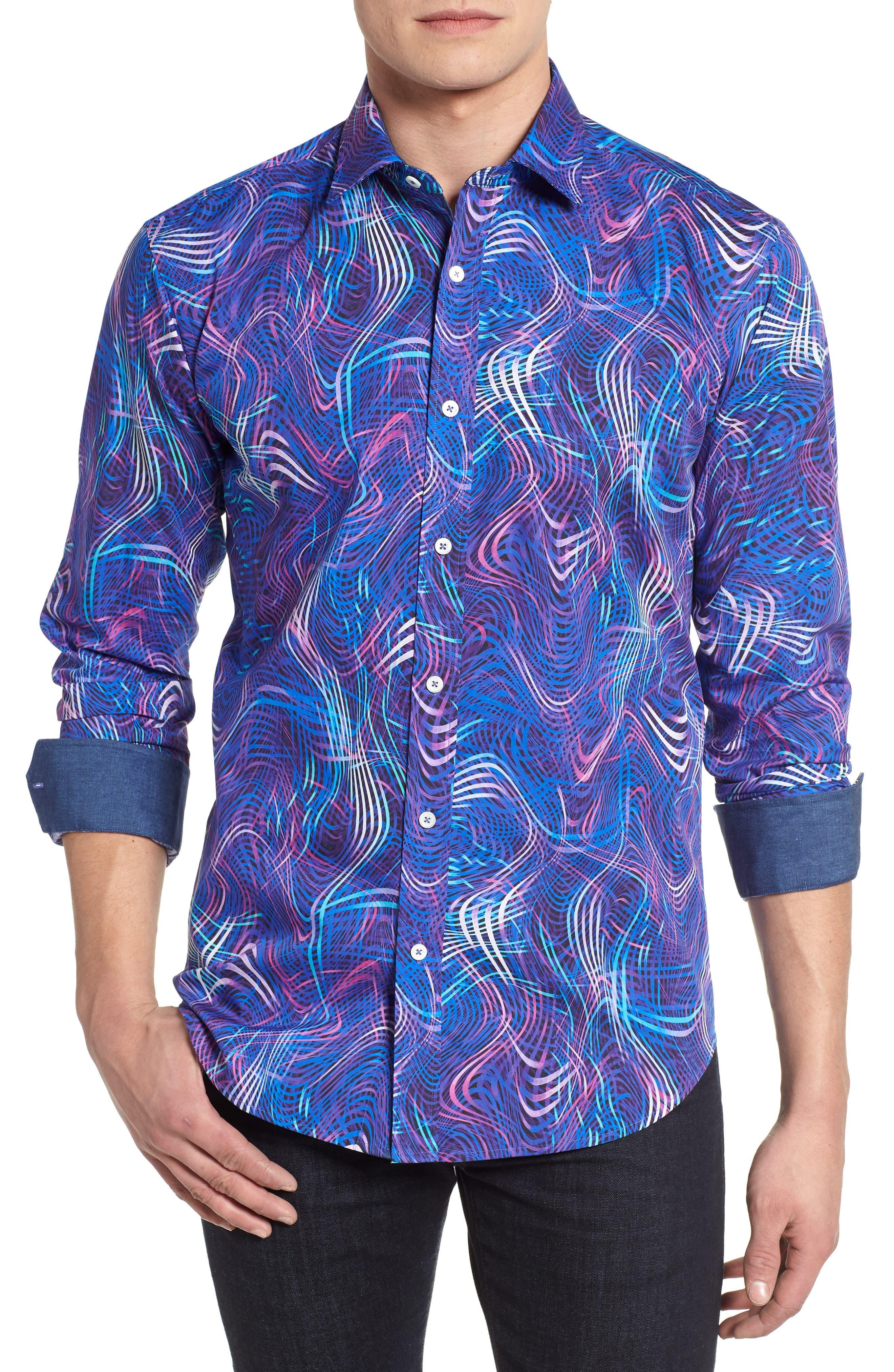 Woven Sport Shirt,                             Main thumbnail 1, color,                             Tulip