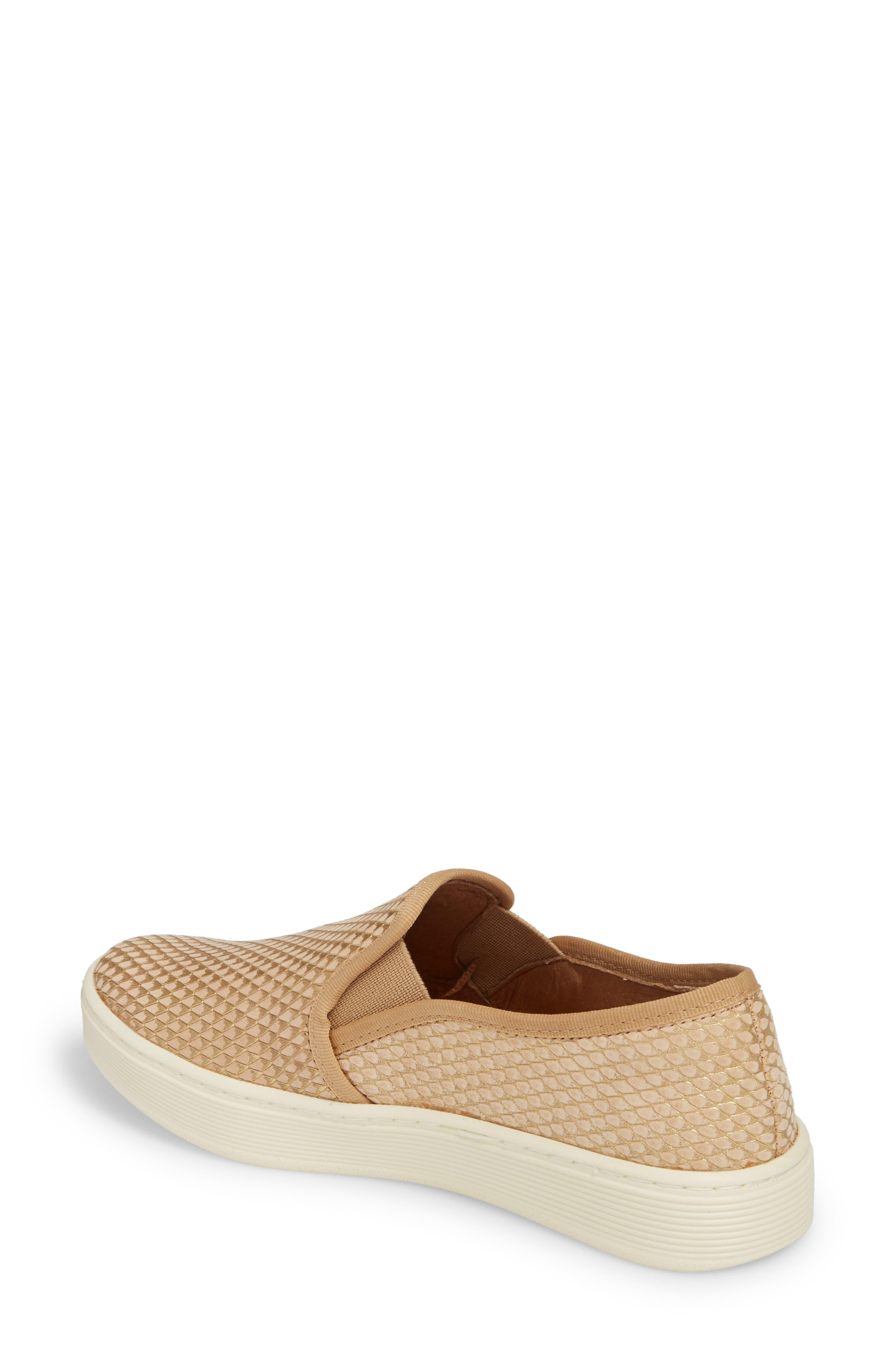 'Somers' Slip-On Sneaker,                             Alternate thumbnail 2, color,                             Sand Nubuck