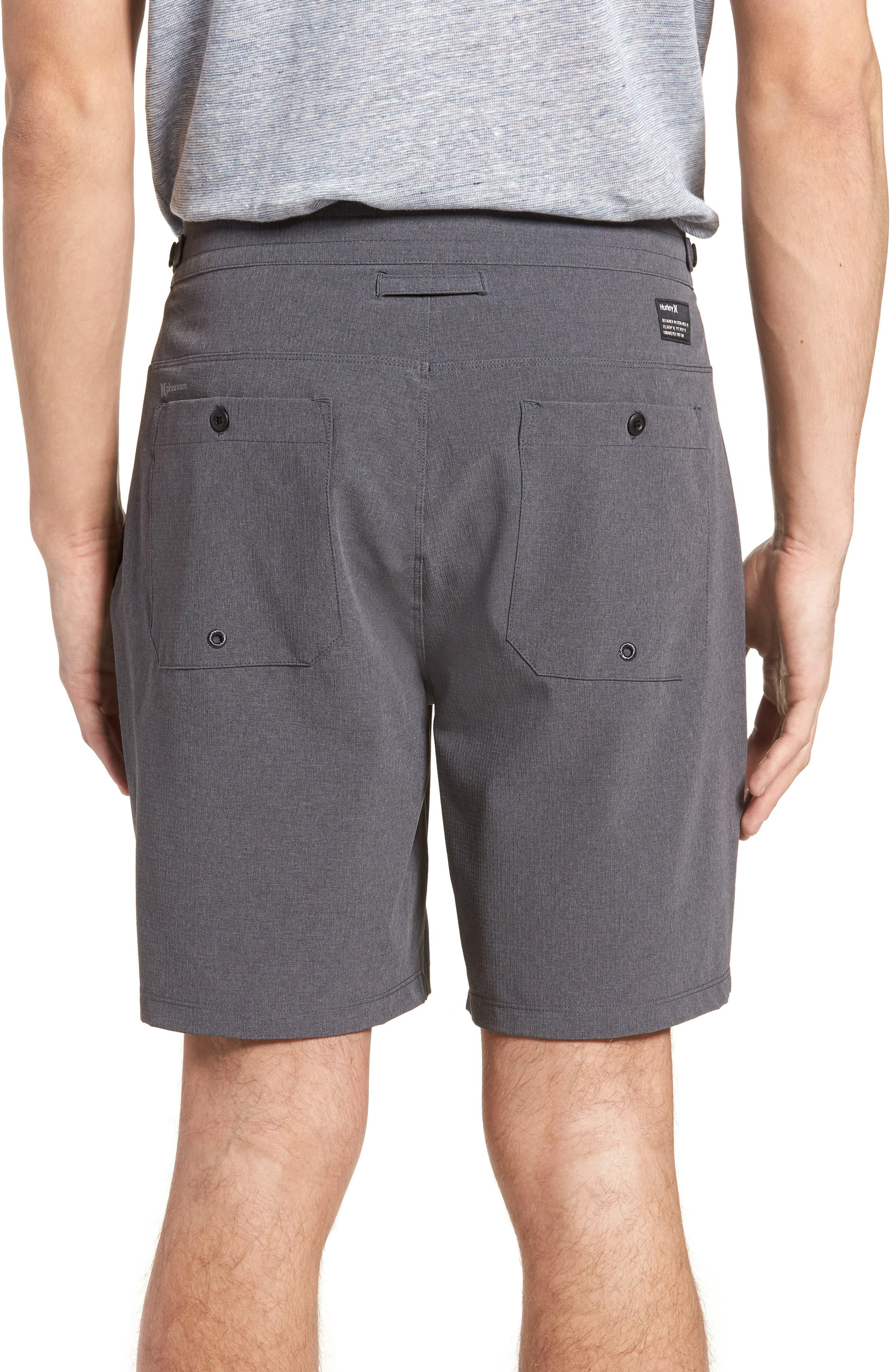 Phantom Coastline Shorts,                             Alternate thumbnail 2, color,                             Black Heather