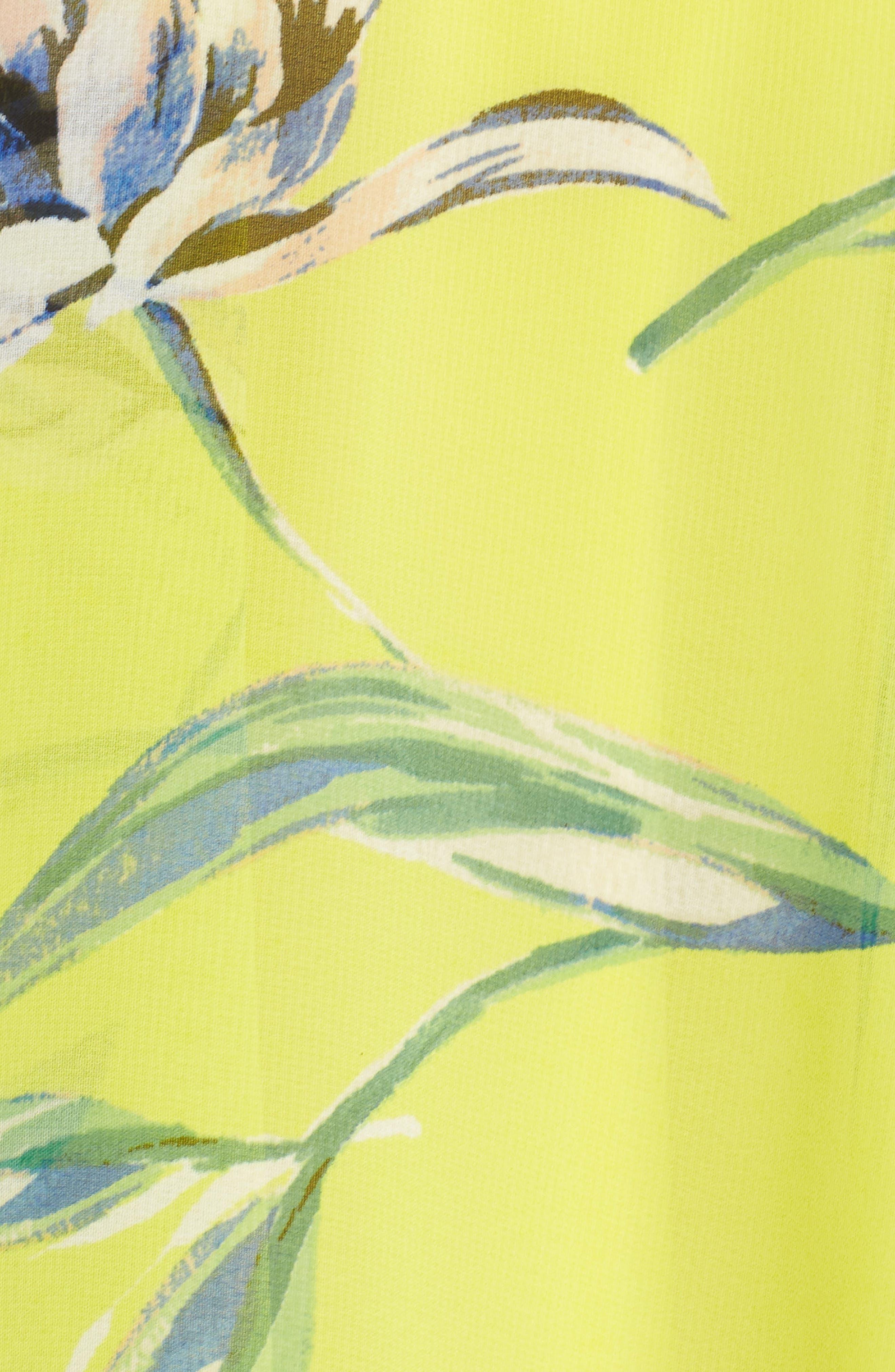 Halter Neck Chiffon Maxi Dress,                             Alternate thumbnail 6, color,                             Yellow