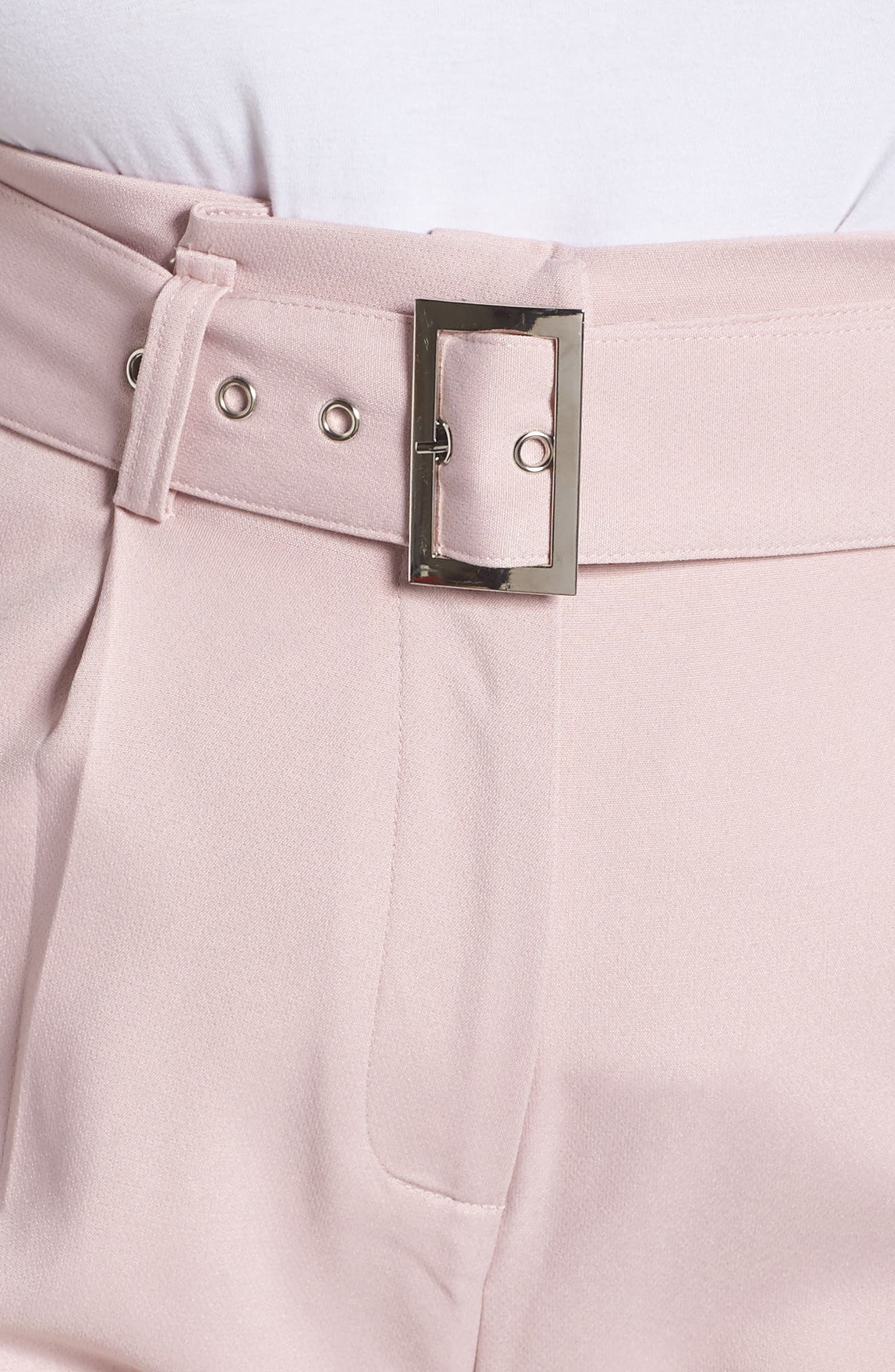 Belted Peg Trousers,                             Alternate thumbnail 4, color,                             Blush