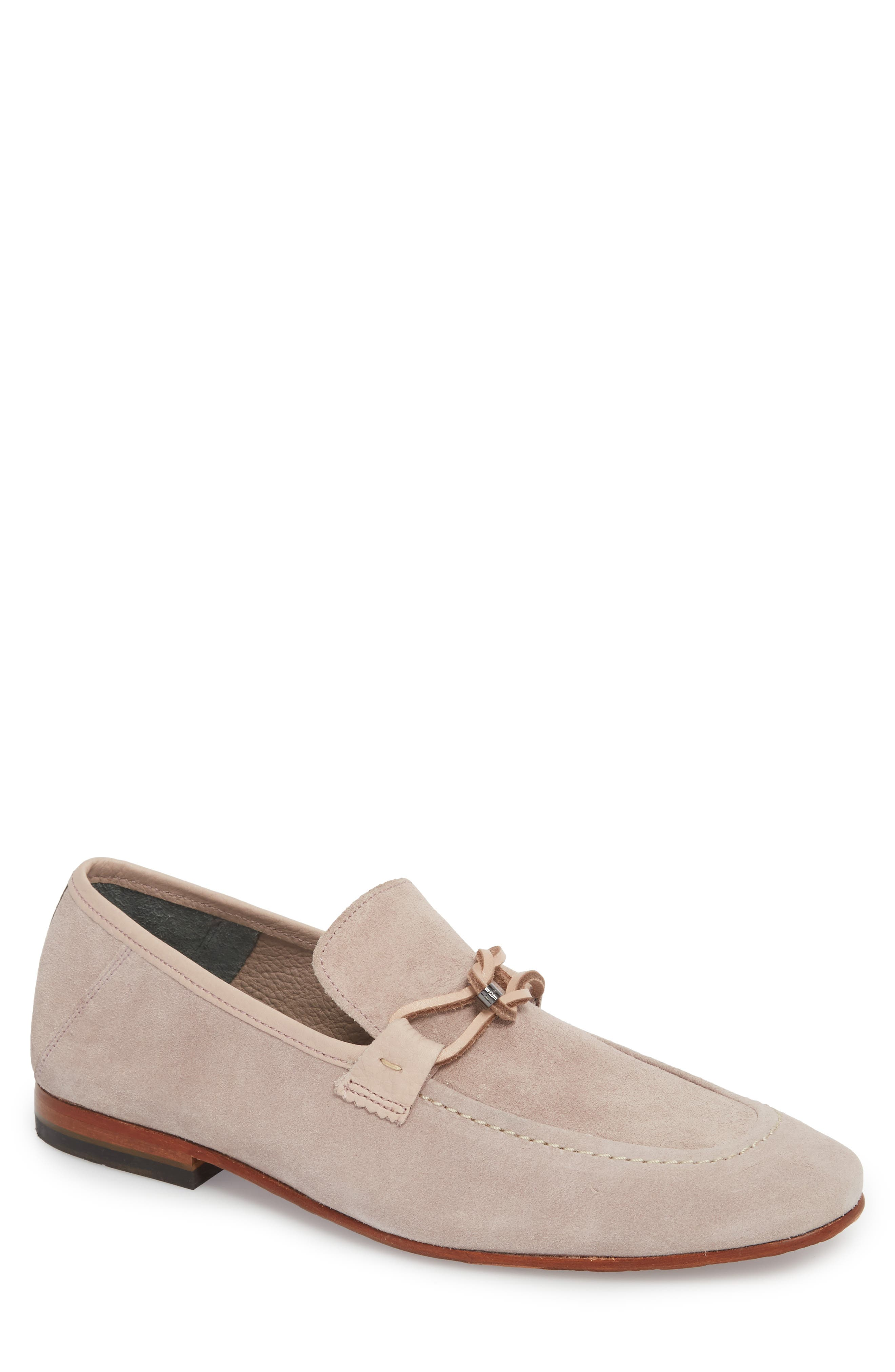 Hoppken Convertible Knotted Loafer,                             Main thumbnail 1, color,                             Light Pink Suede