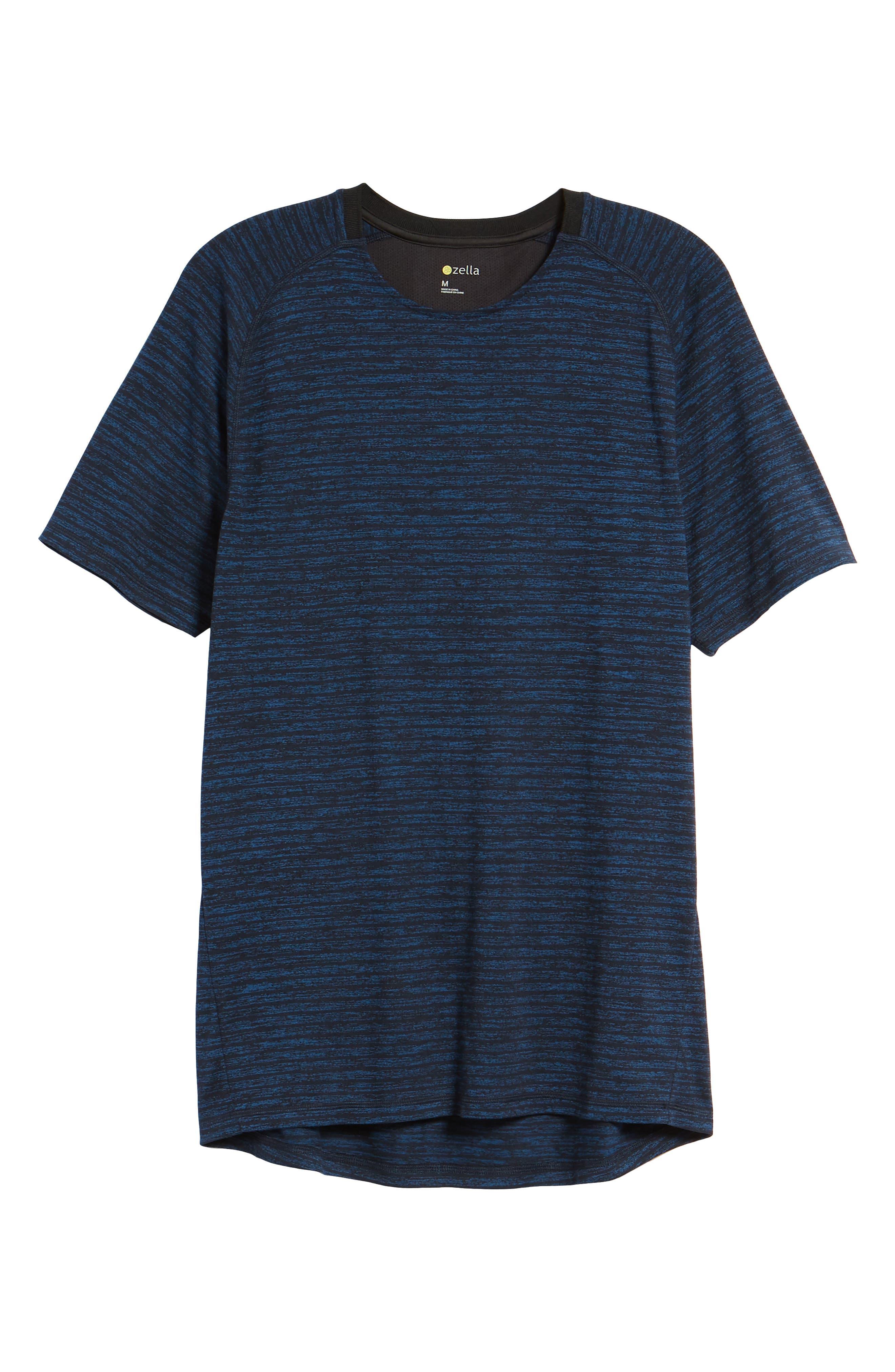 Stripe Crewneck T-Shirt,                             Alternate thumbnail 6, color,                             Blue Iolite Stripe