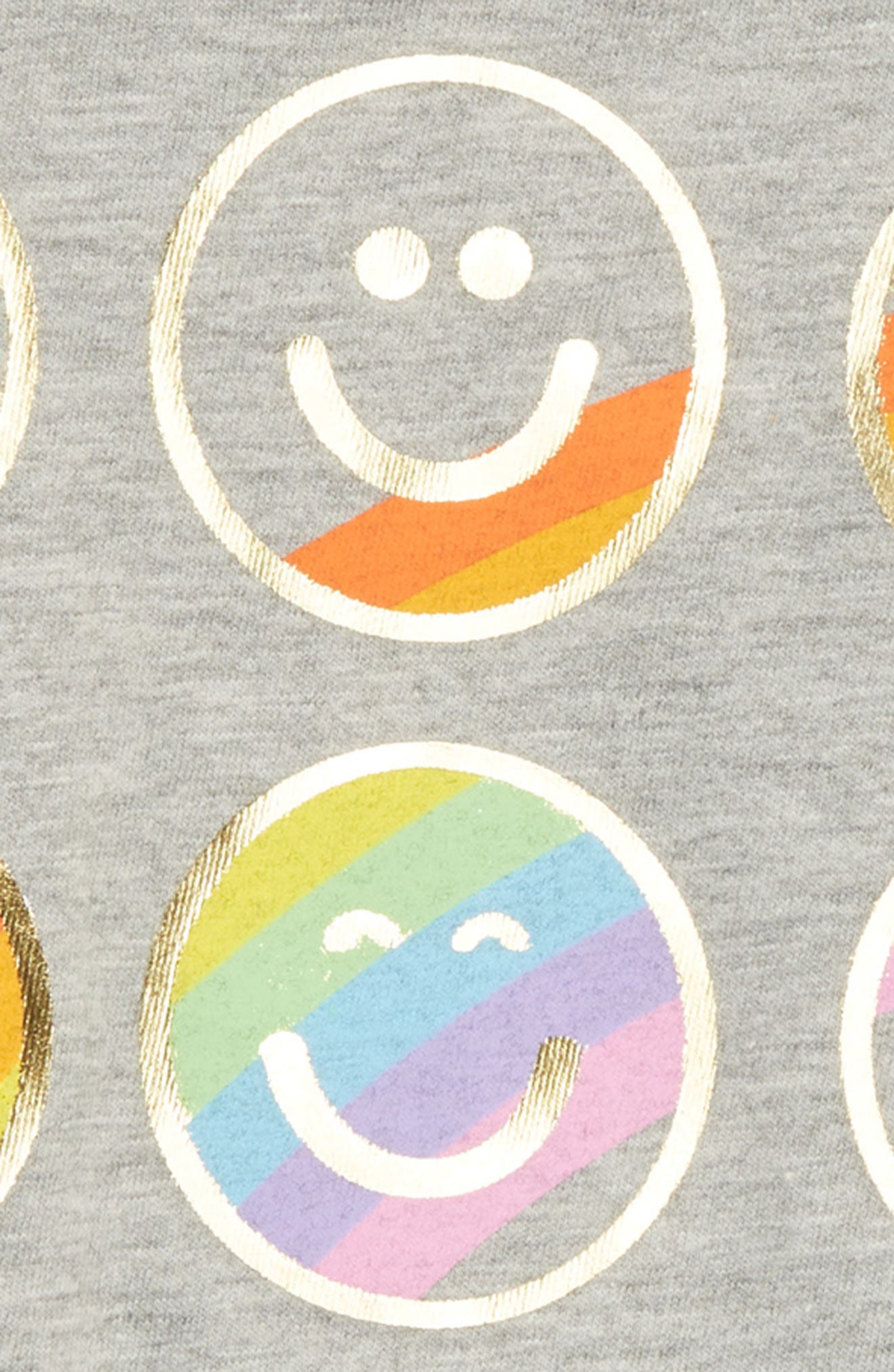 Emoji Graphic Tee,                             Alternate thumbnail 2, color,                             Light Heather Grey