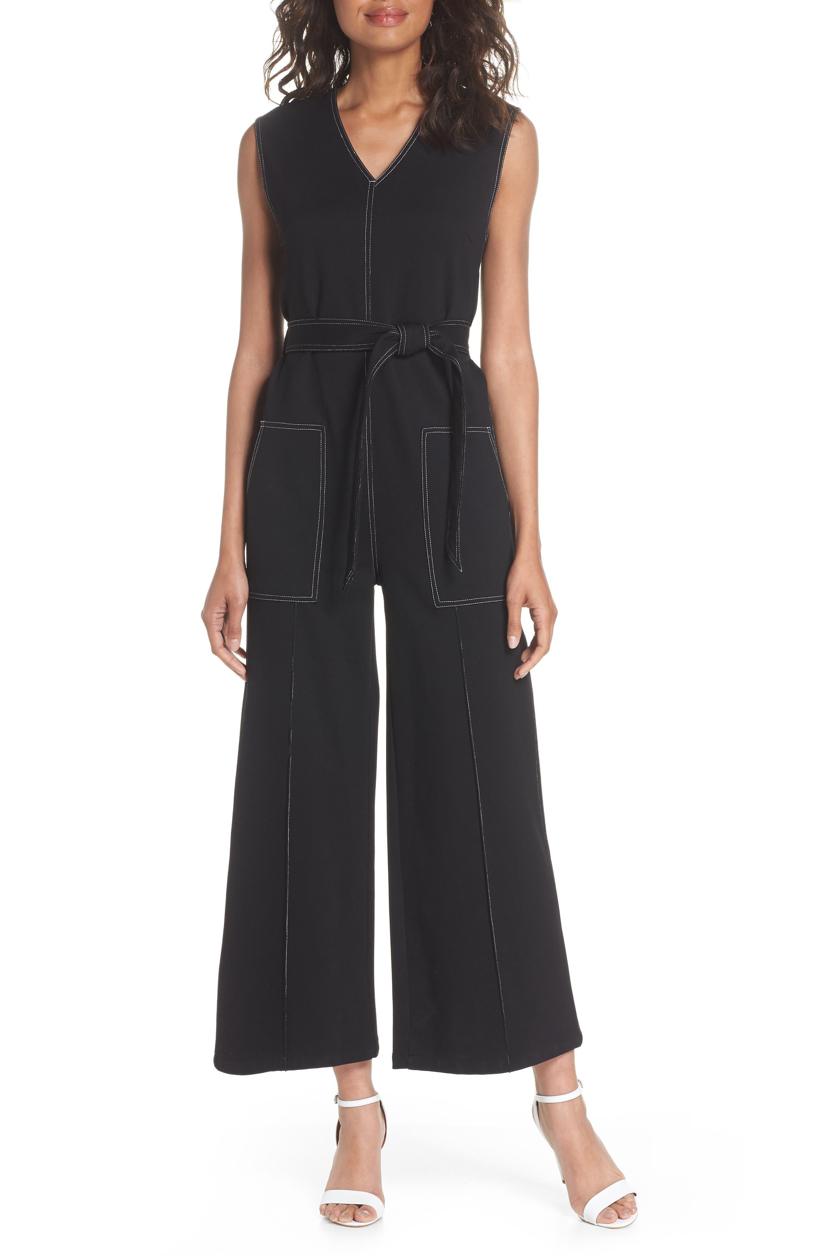 Playdate Stretch Knit Jumpsuit,                         Main,                         color, Black