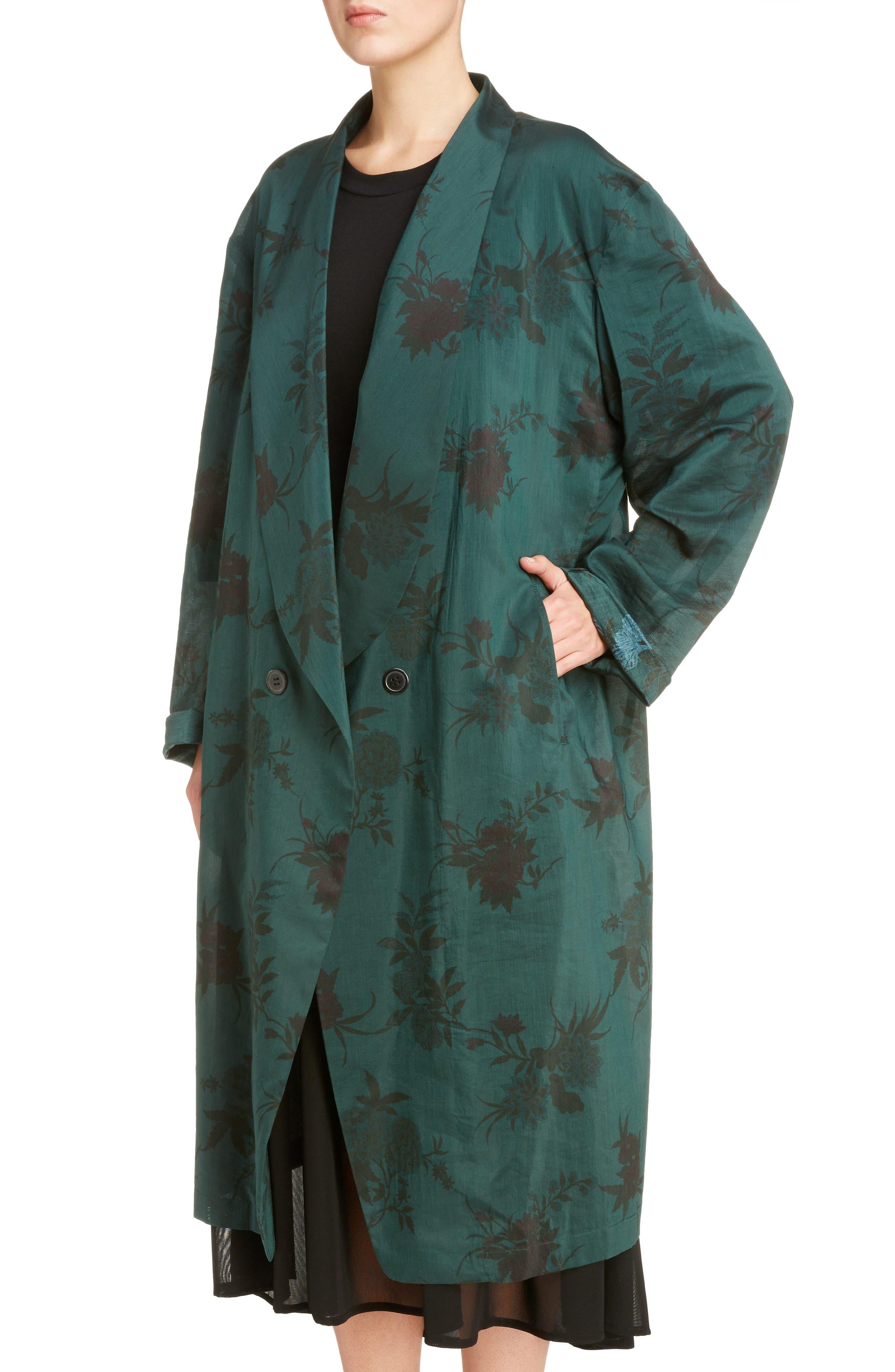 Alternate Image 4  - Y's by Yohji Yamamoto Floral Coat