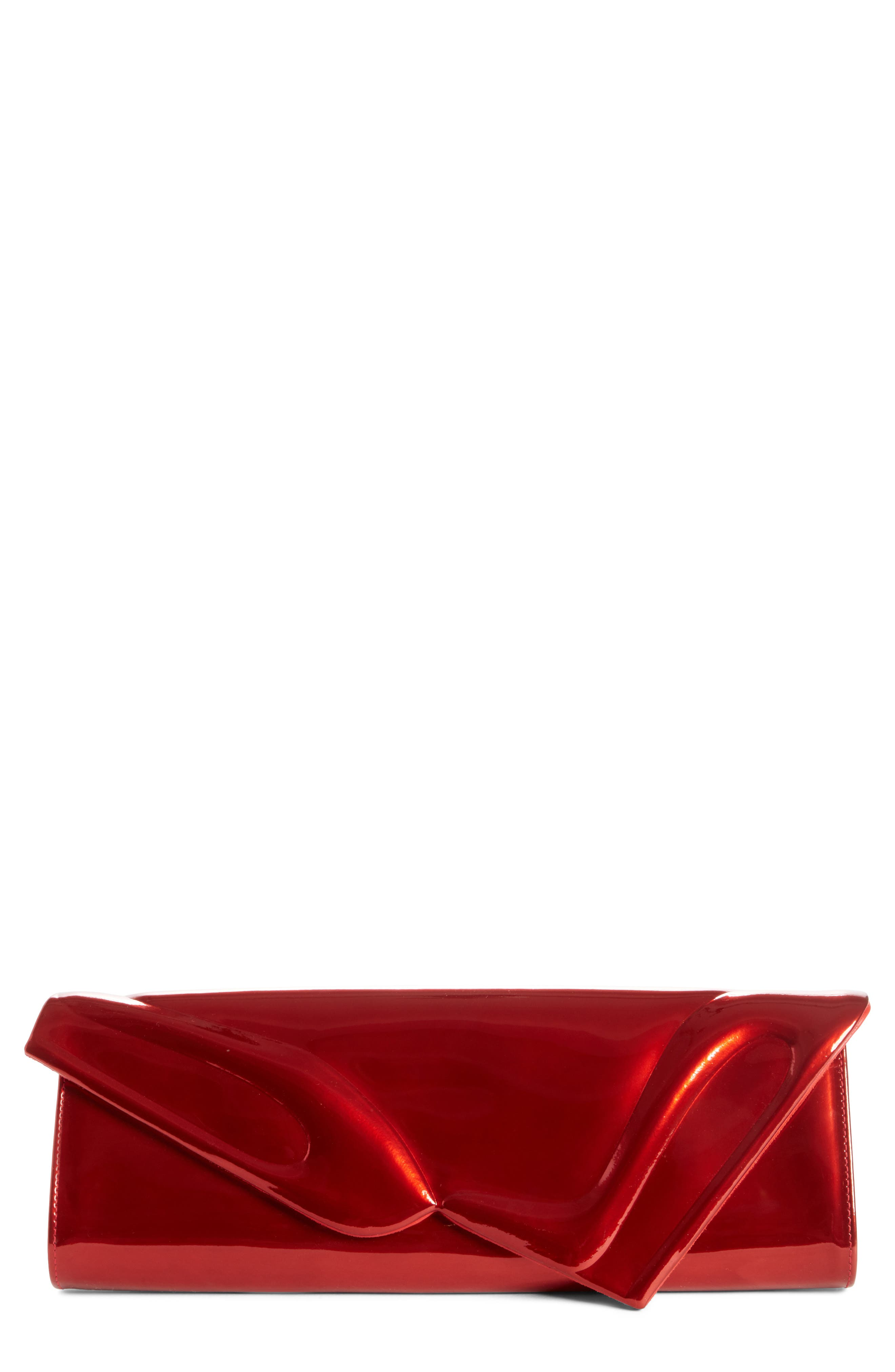 'So Kate' Patent Leather Clutch,                             Main thumbnail 1, color,                             Red