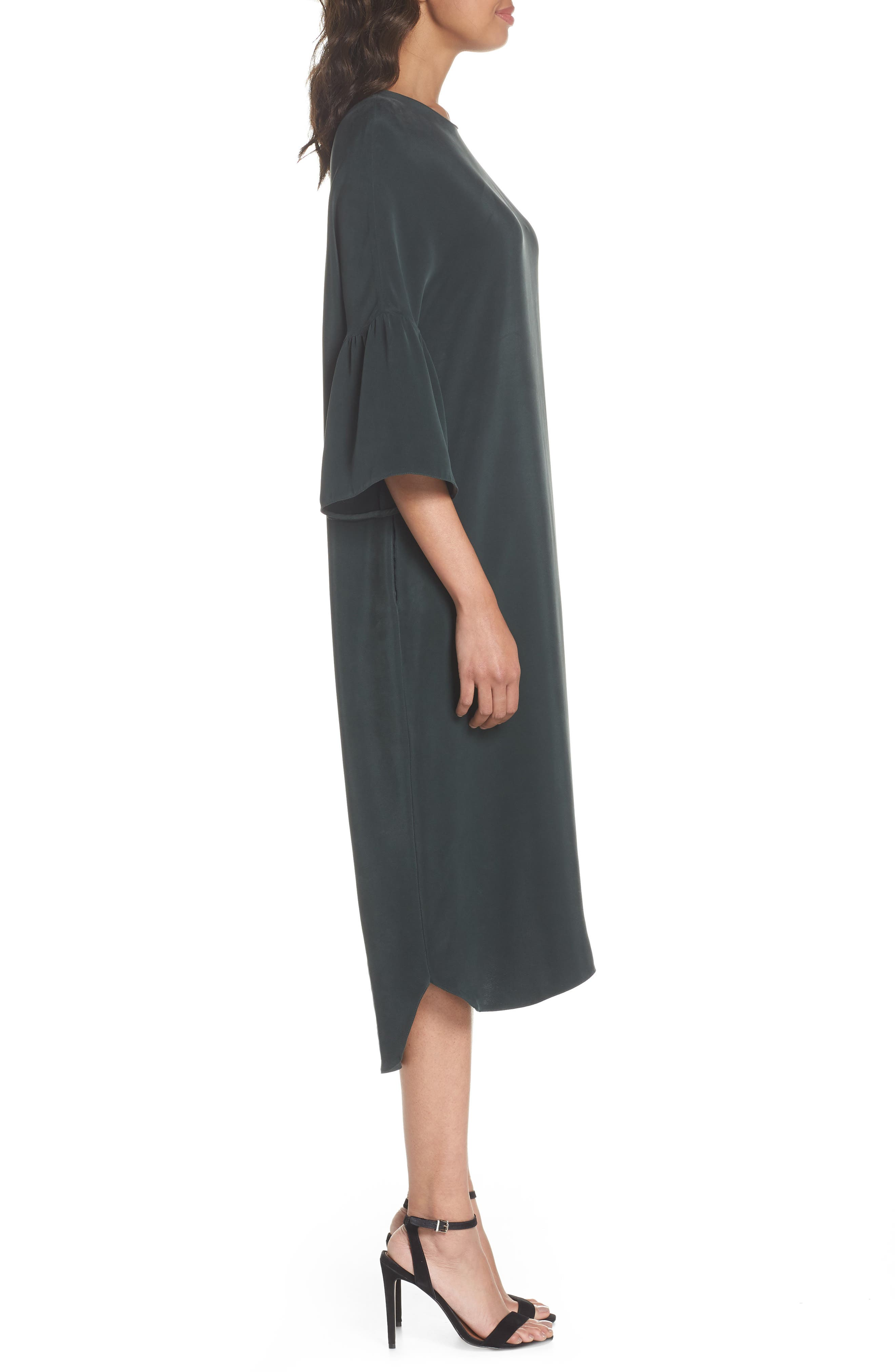 Stroll In The Woods Shift Dress,                             Alternate thumbnail 3, color,                             Green