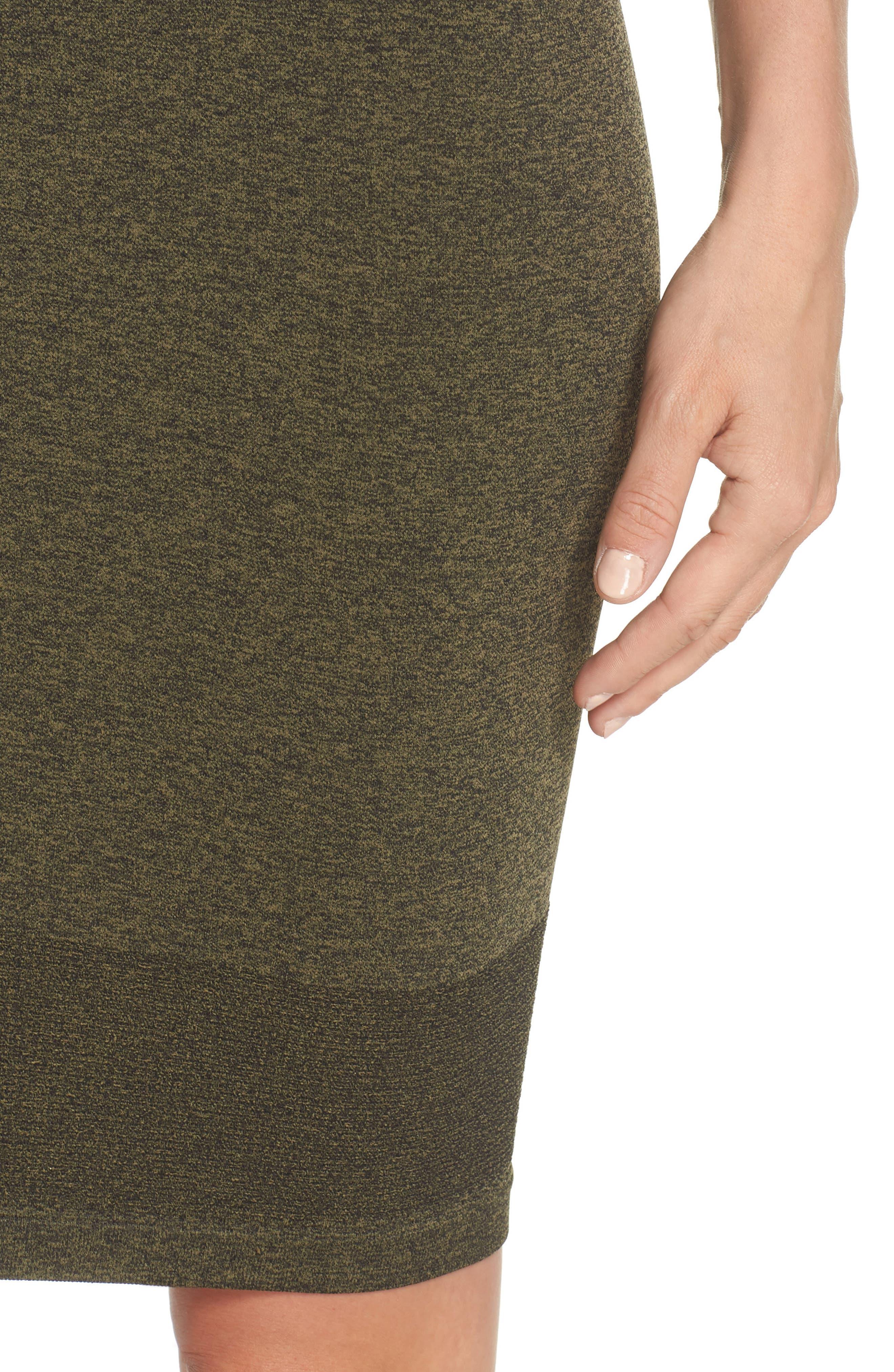 Aura Seamless Skirt,                             Alternate thumbnail 4, color,                             Deep Lichen Green/ Black