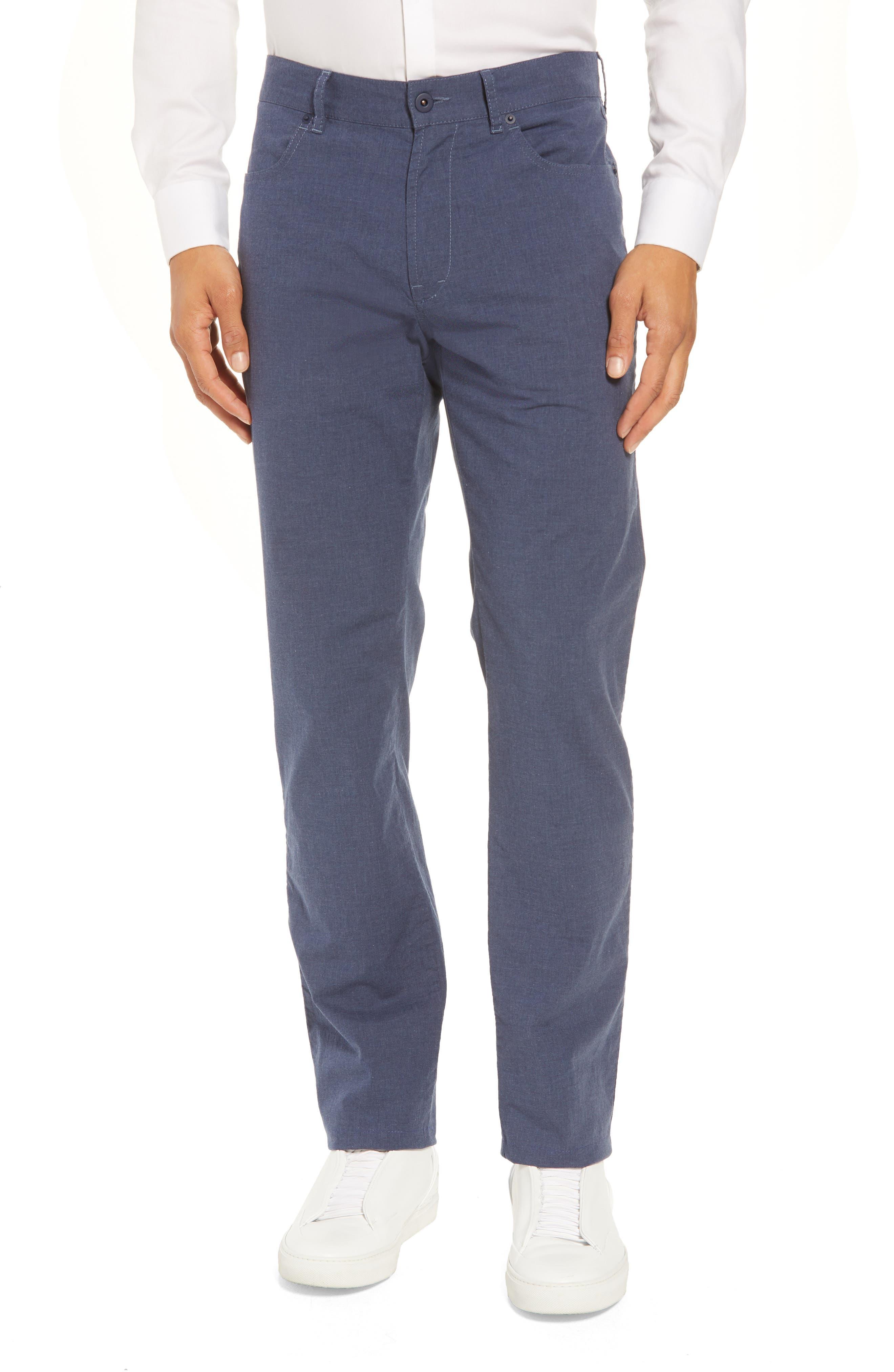 McKinney Regular Fit Straight Leg Pants,                         Main,                         color, Blue