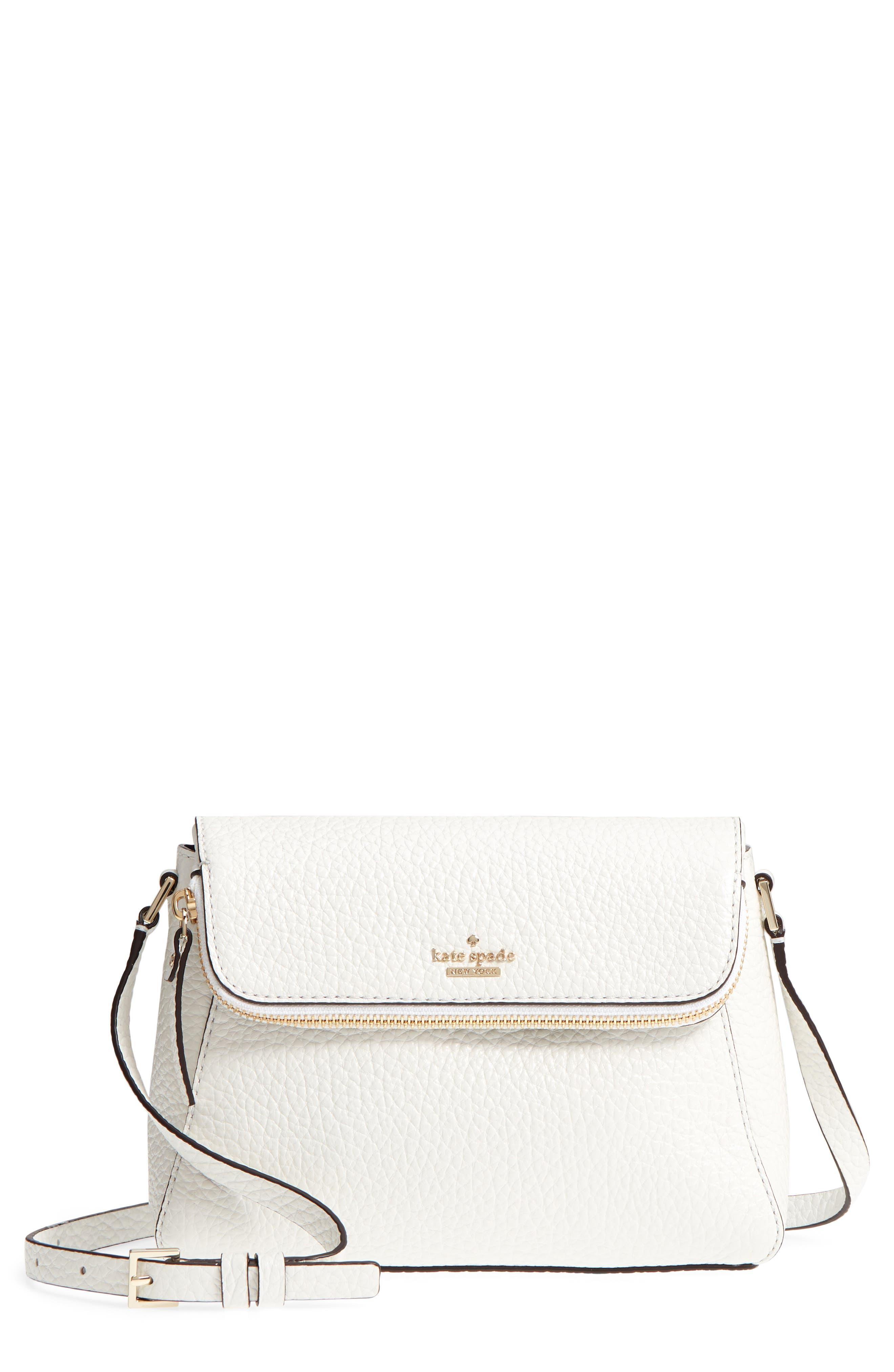 carter street - berrin leather crossbody bag,                             Main thumbnail 1, color,                             Bright White