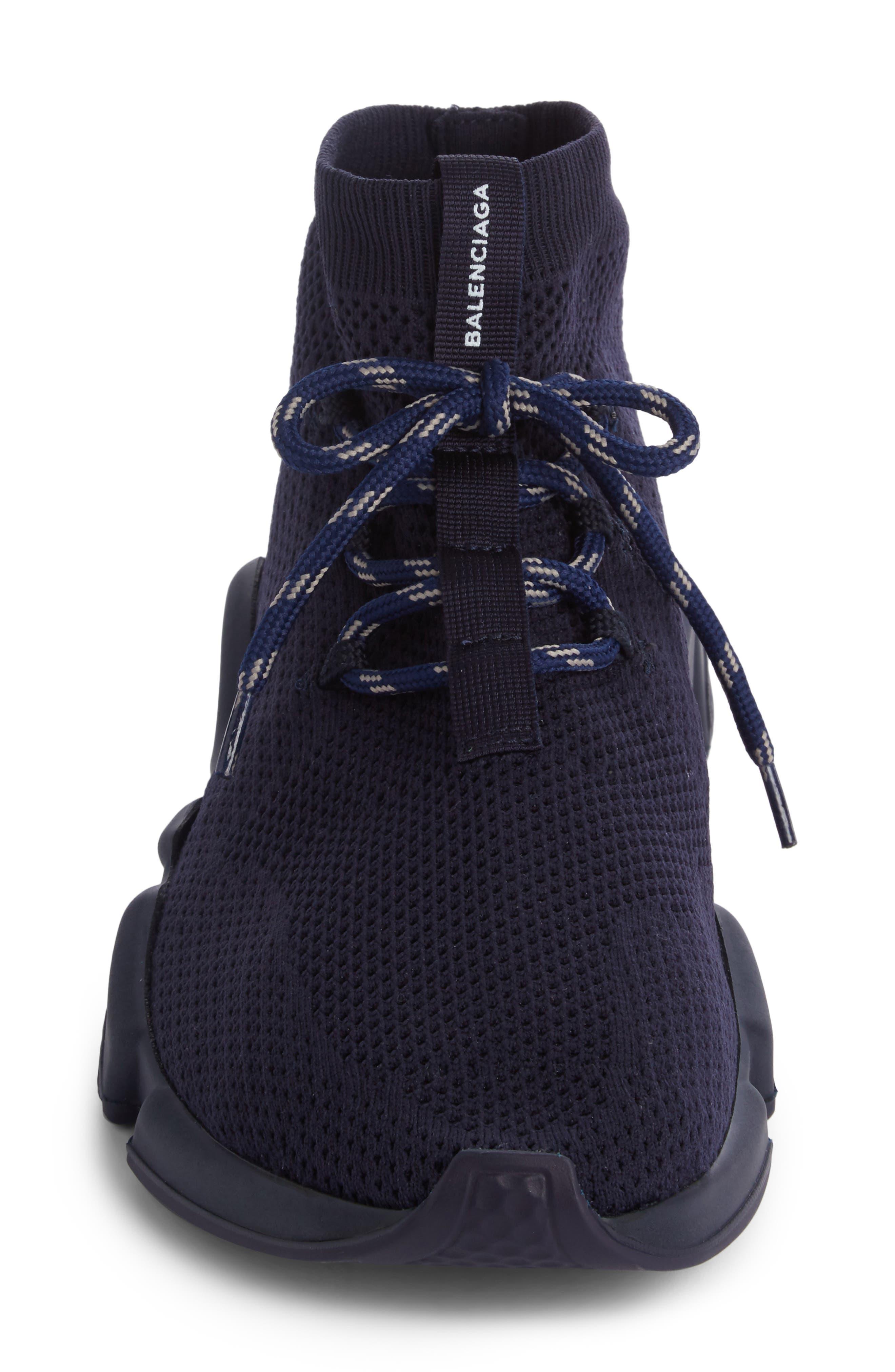 Mid-Top Sneaker,                             Alternate thumbnail 4, color,                             Blue Marine/Blanc White