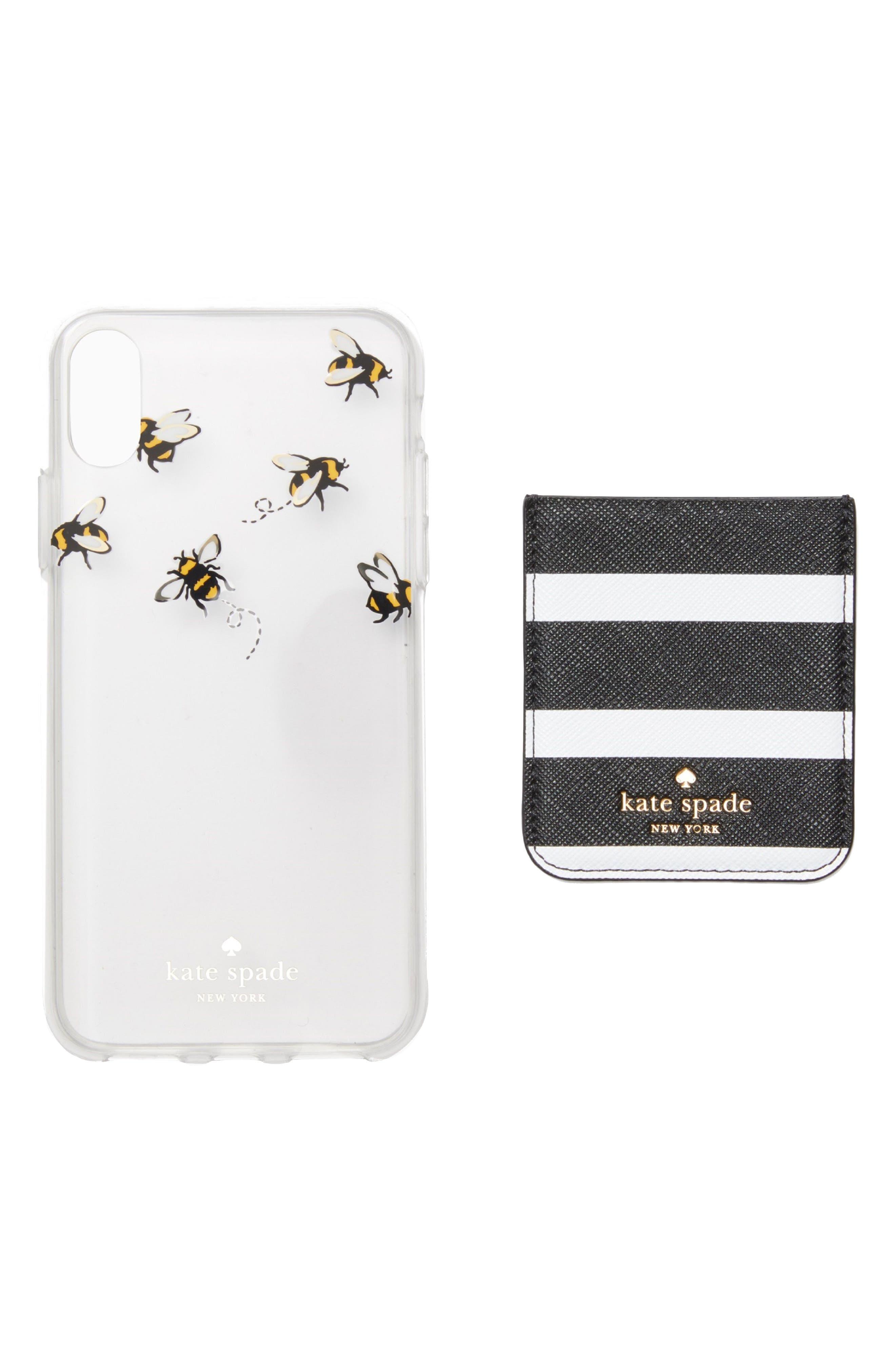 stick to it iPhone X case & sticker pocket set,                             Main thumbnail 1, color,                             Multi