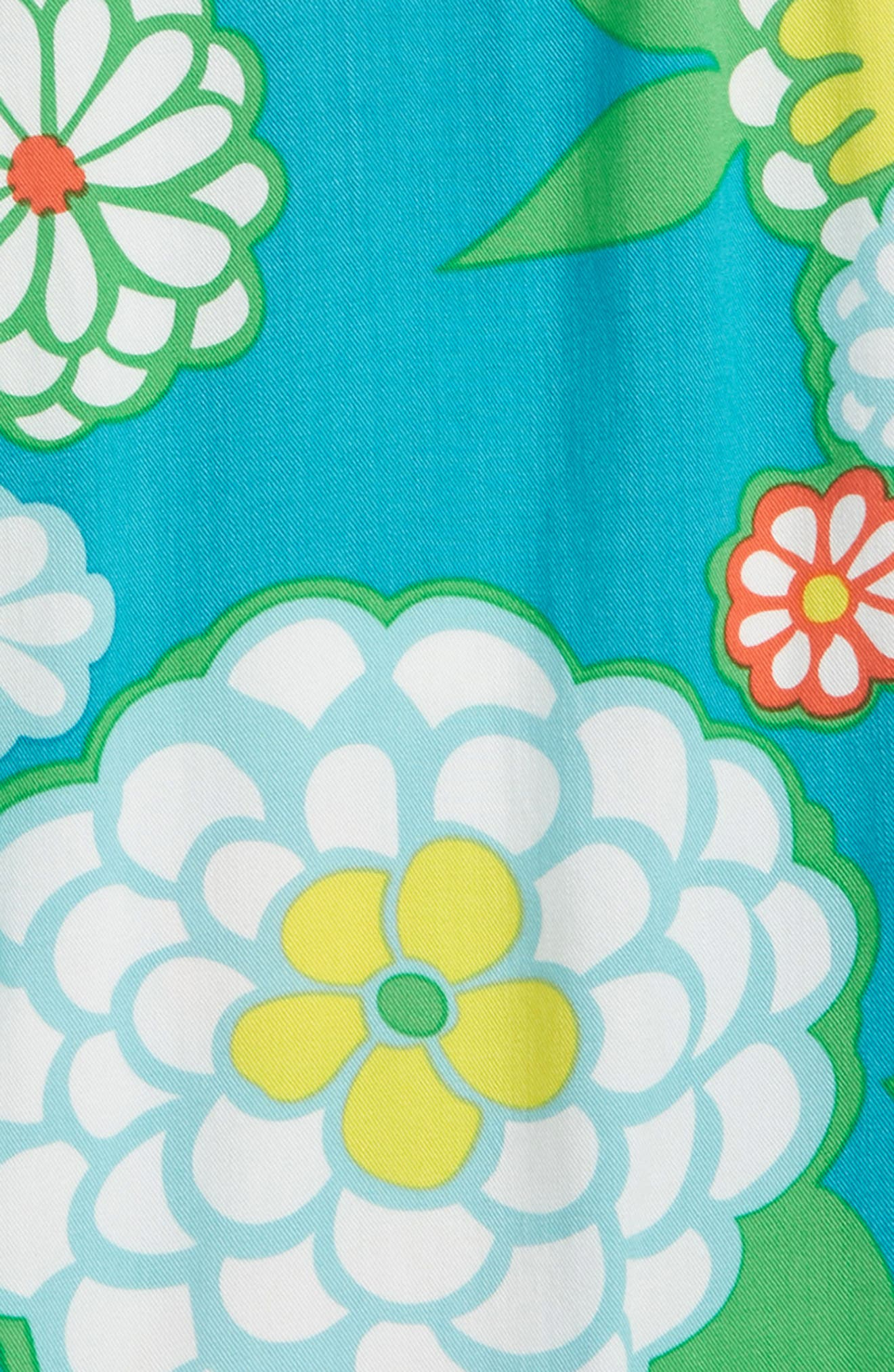 Print Culotte Romper,                             Alternate thumbnail 2, color,                             Ultramarine Green Daisy Grn