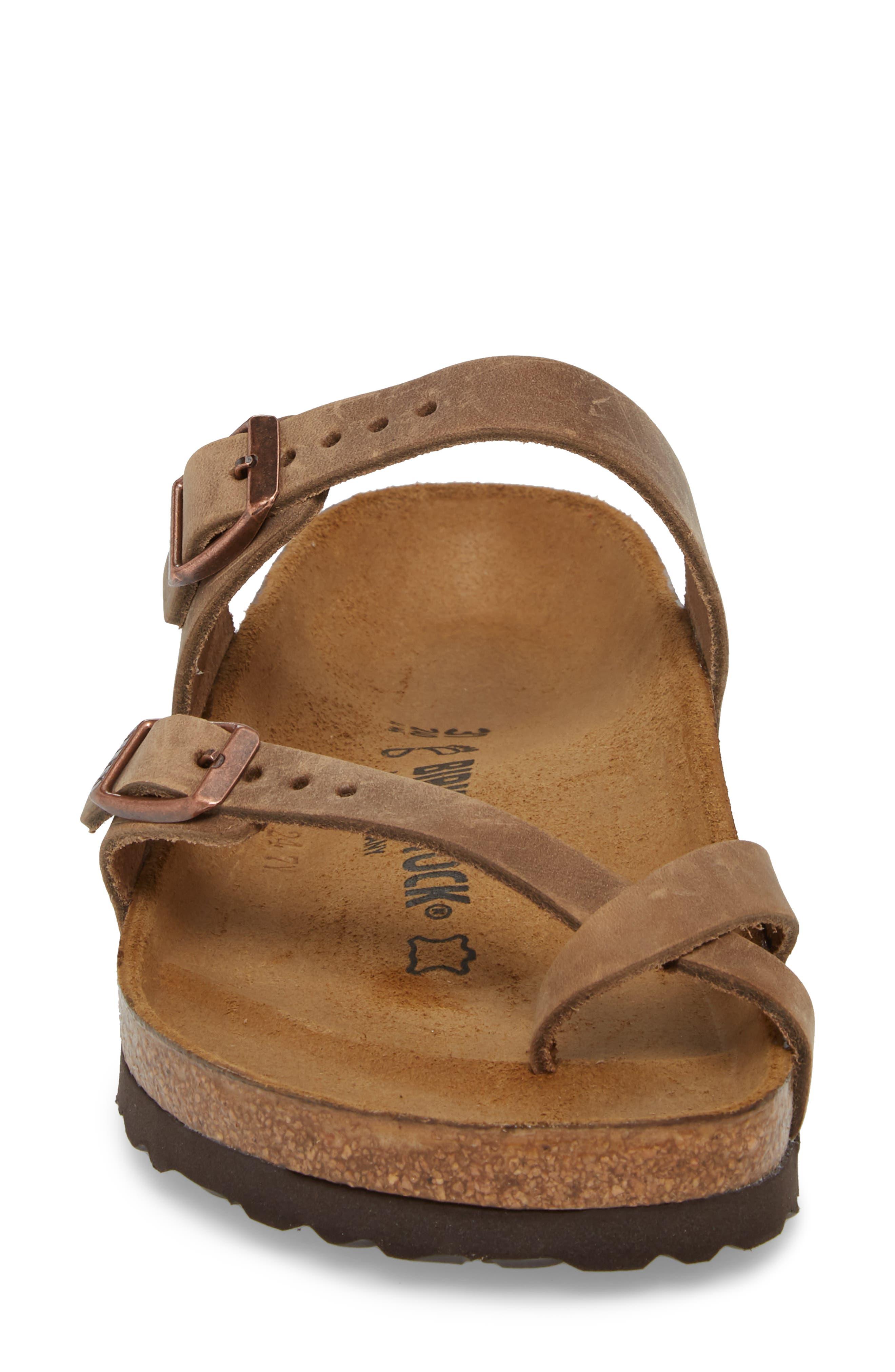 Mayari Slide Sandal,                             Alternate thumbnail 4, color,                             Tobacco Oiled Leather