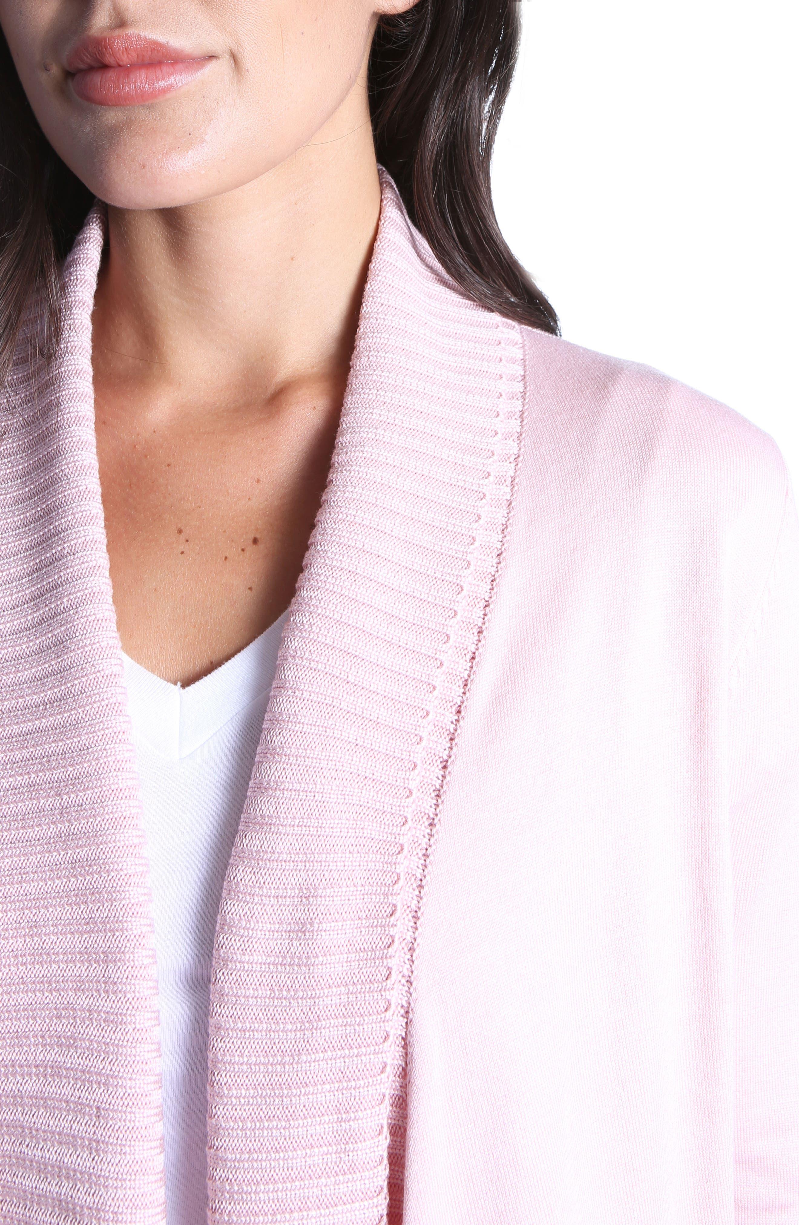 Amabelle Knit Cardigan,                             Alternate thumbnail 4, color,                             Blush