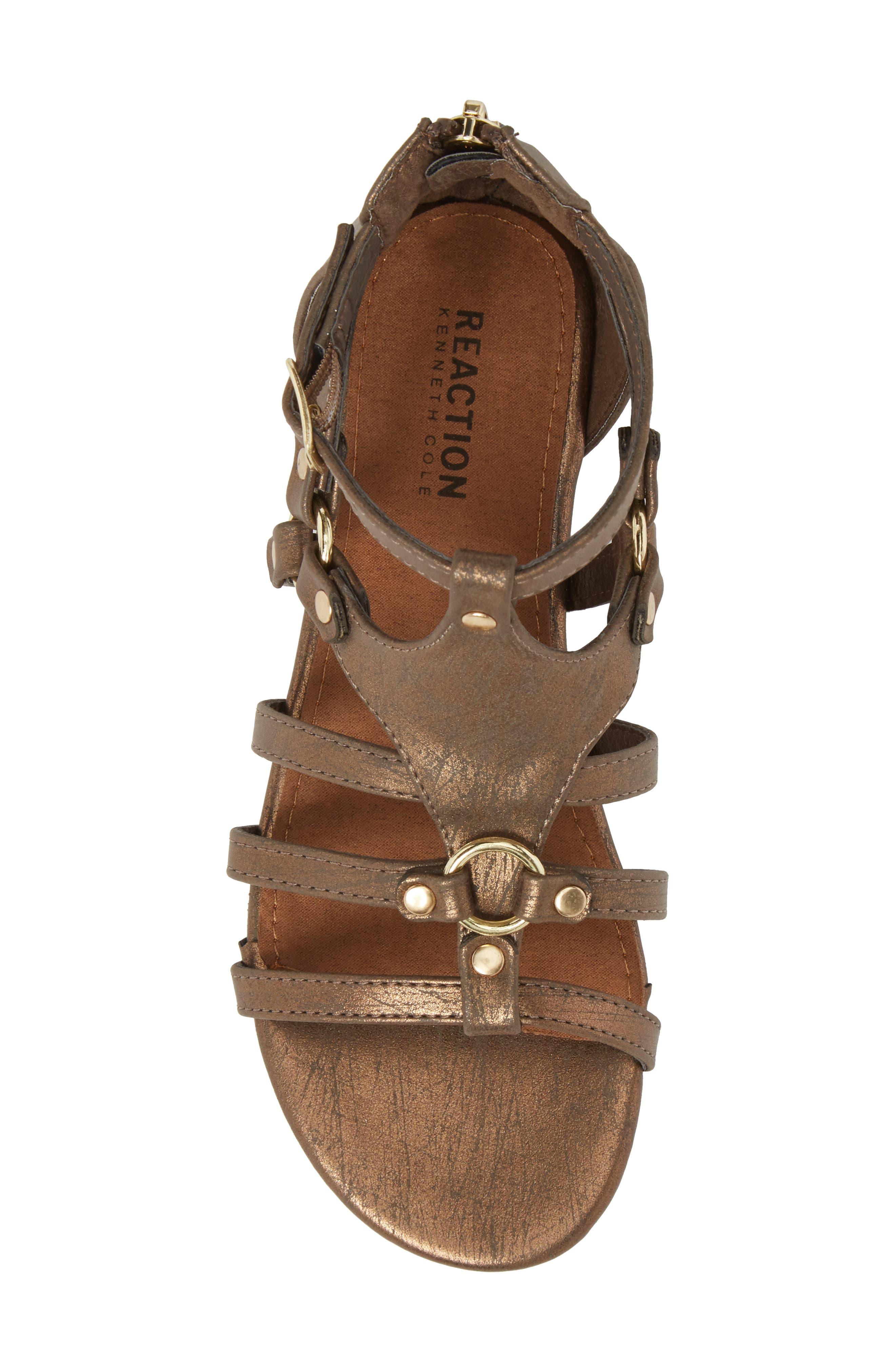 Reaction Kenneth Cole Kiera Metallic Sandal,                             Alternate thumbnail 5, color,                             Bronze