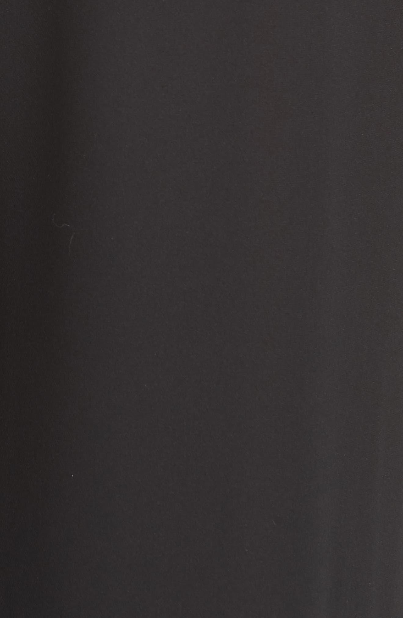 Silk Jogger Pants,                             Alternate thumbnail 5, color,                             Black