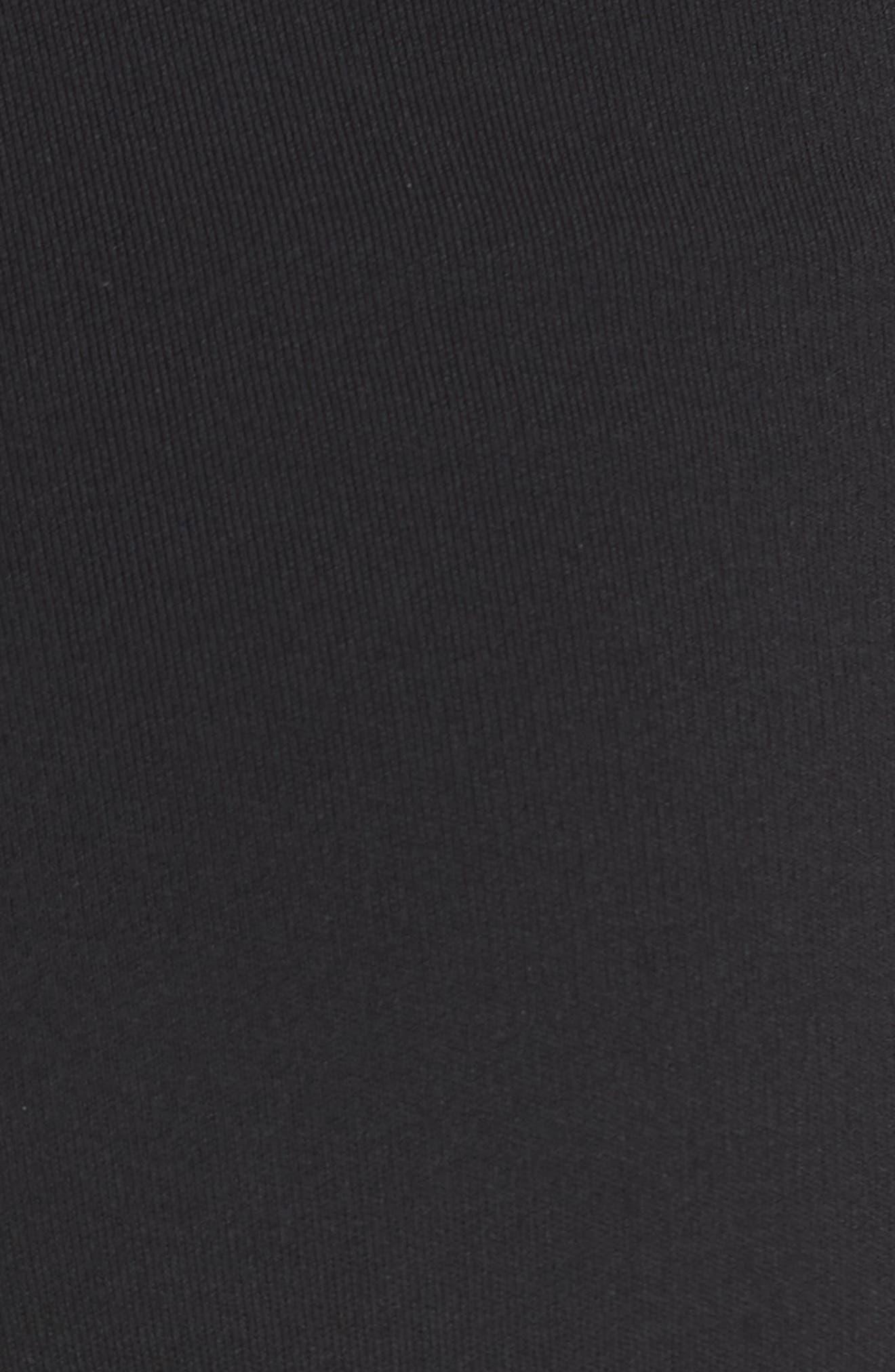 Henriet K Lustrate Wide Leg Crop Pants,                             Alternate thumbnail 5, color,                             Black