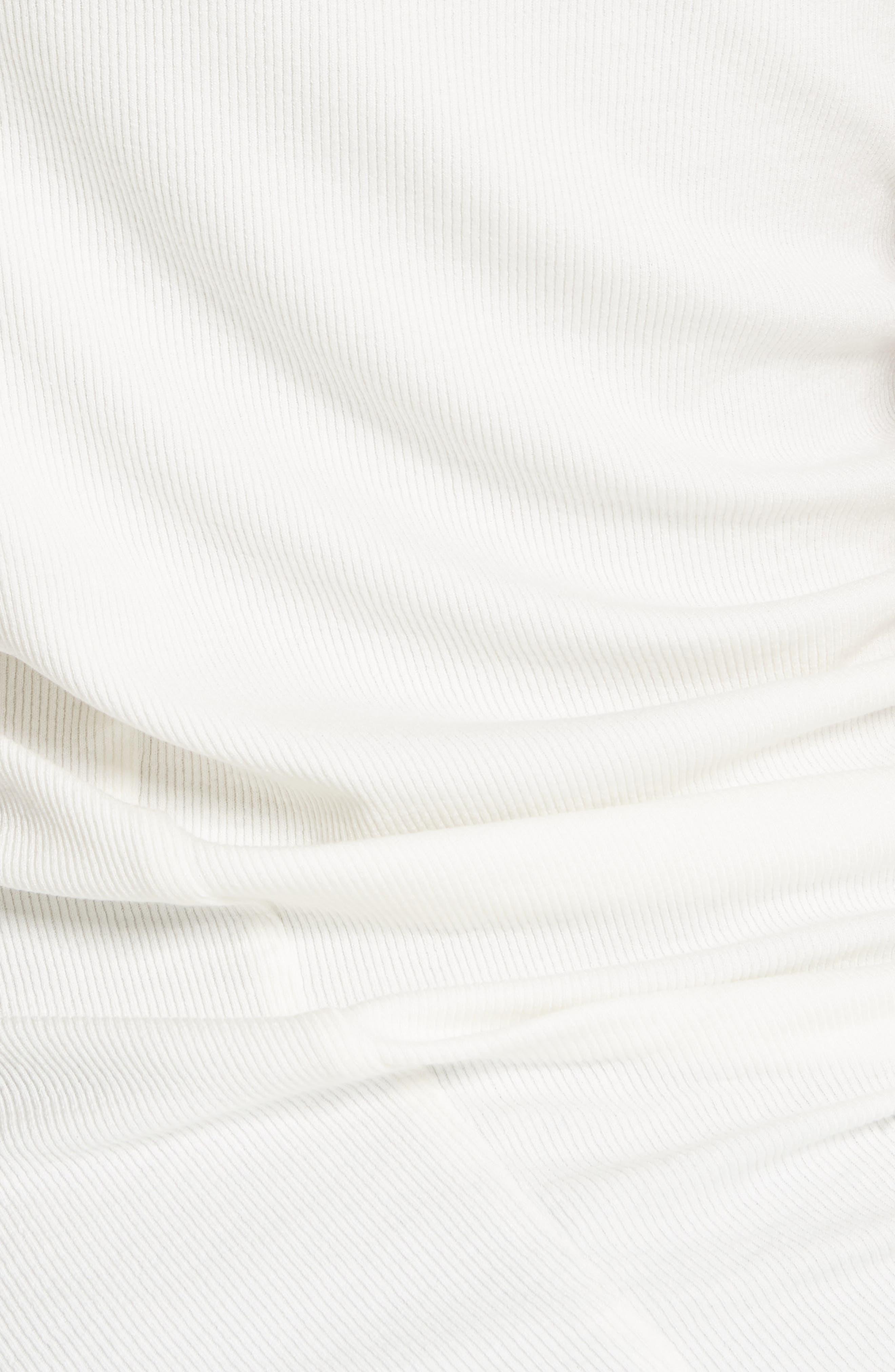 Twist Detail Tee,                             Alternate thumbnail 5, color,                             Blanc
