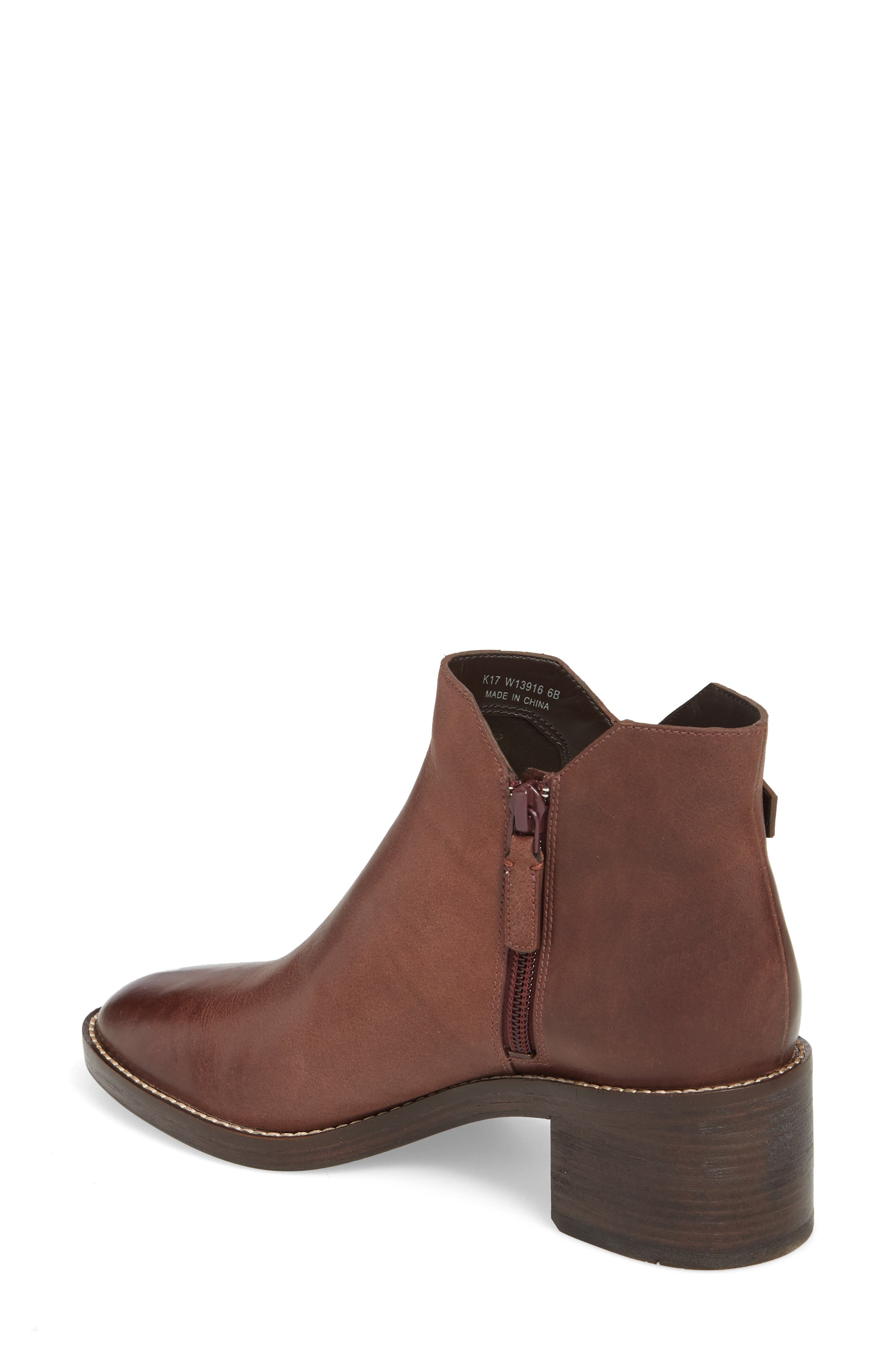 Harrington Grand Buckle Bootie,                             Alternate thumbnail 2, color,                             Chocolate Leather