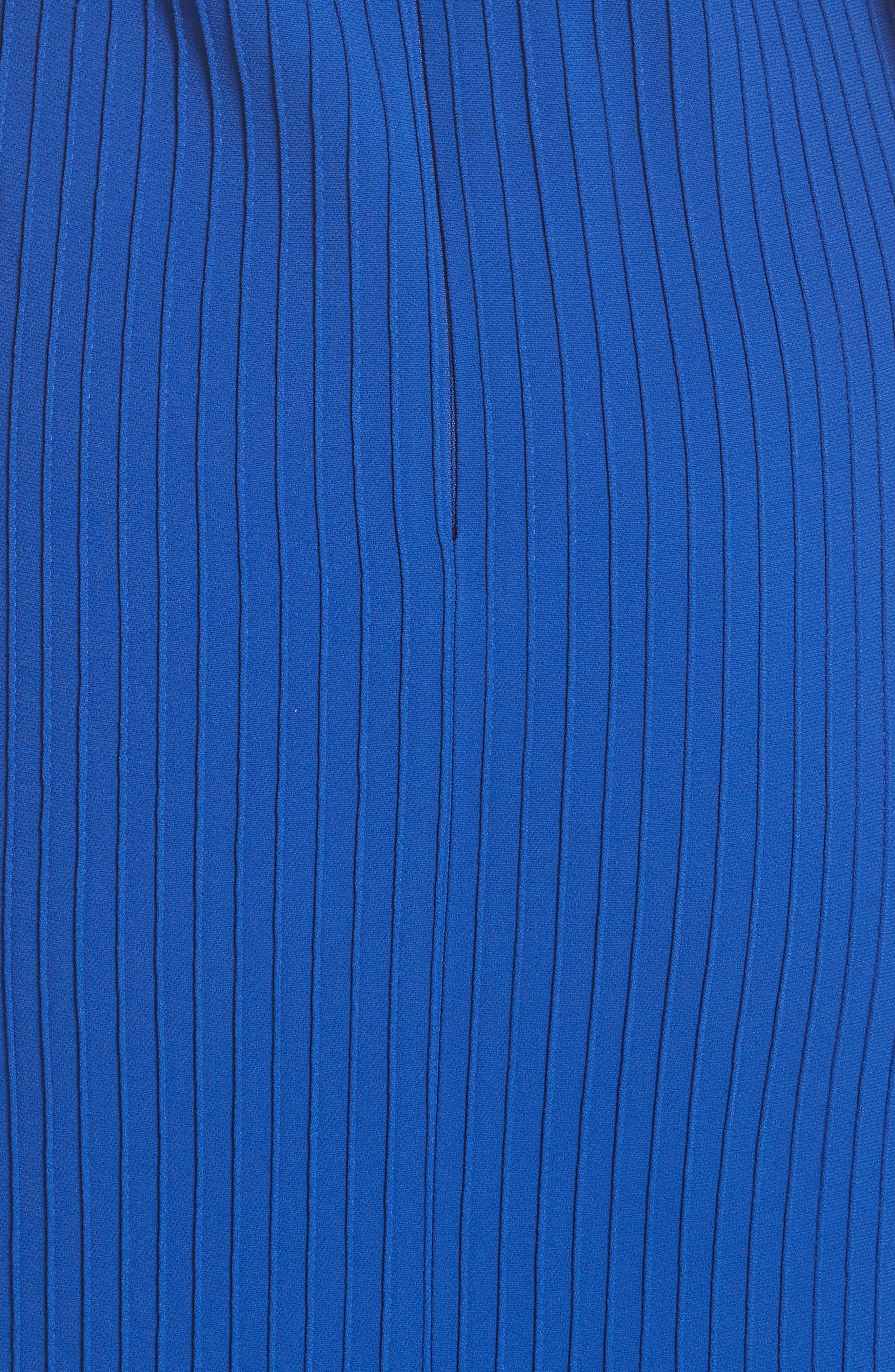 Pintuck Flare Hem Dress,                             Alternate thumbnail 5, color,                             Cobalt