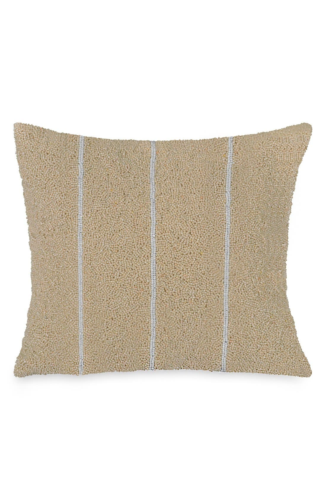 Donna Karan Collection 'Moonscape' Beaded Accent Pillow,                         Main,                         color, Champagne