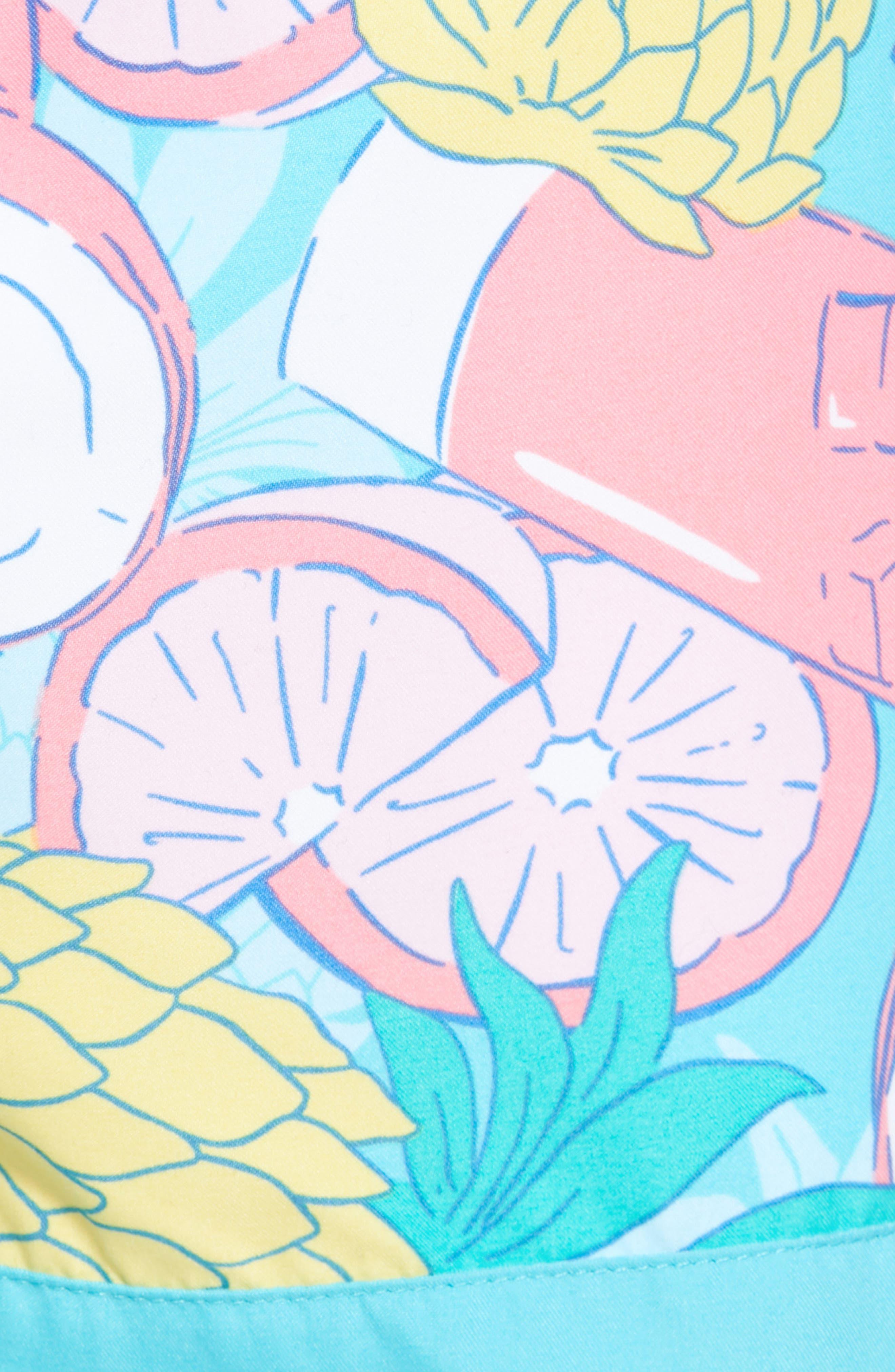 Chappy Pieced Bahama Mama Swim Trunks,                             Alternate thumbnail 5, color,                             Turquoise