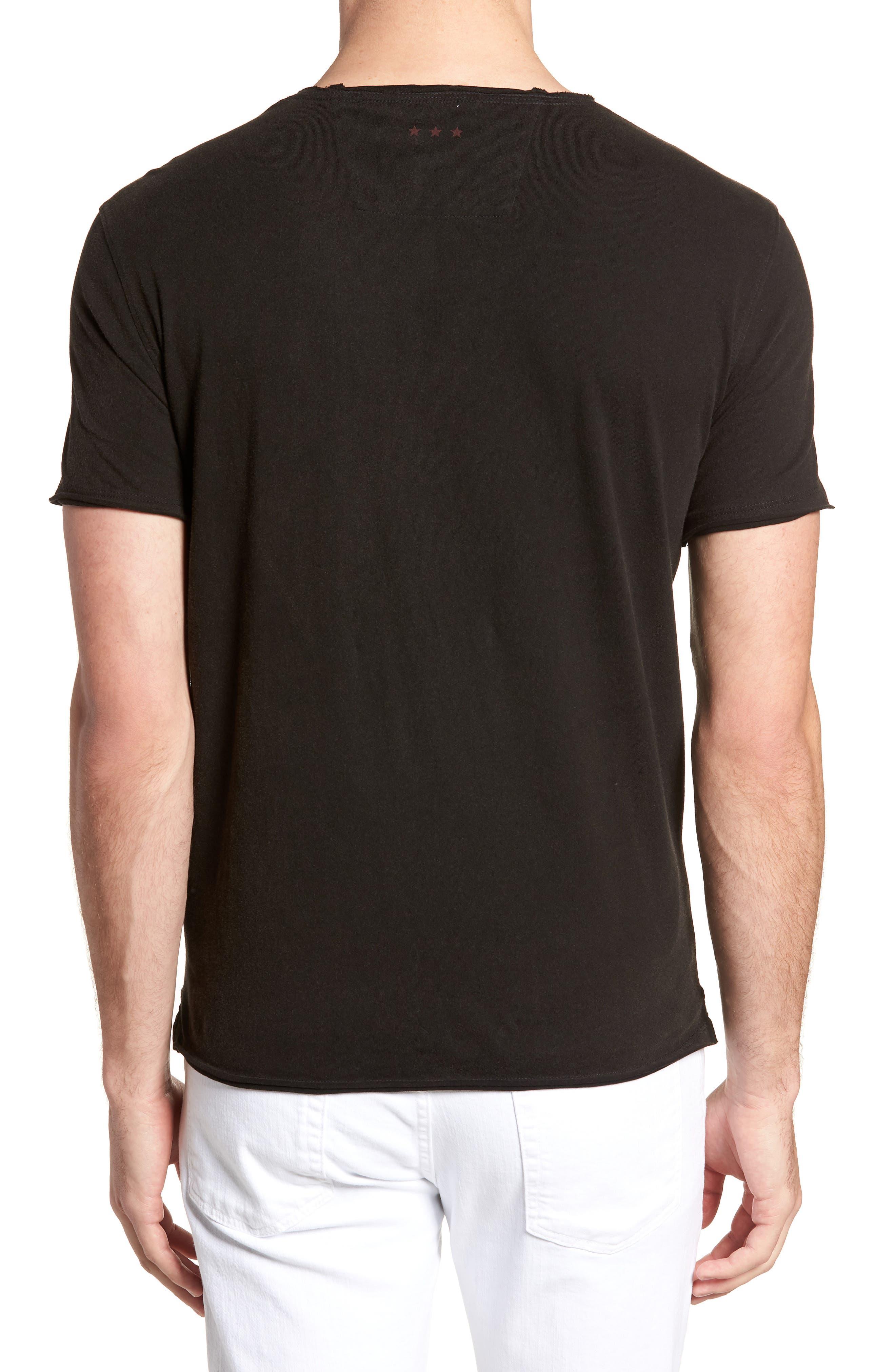 Skull Crewneck T-Shirt,                             Alternate thumbnail 2, color,                             Black