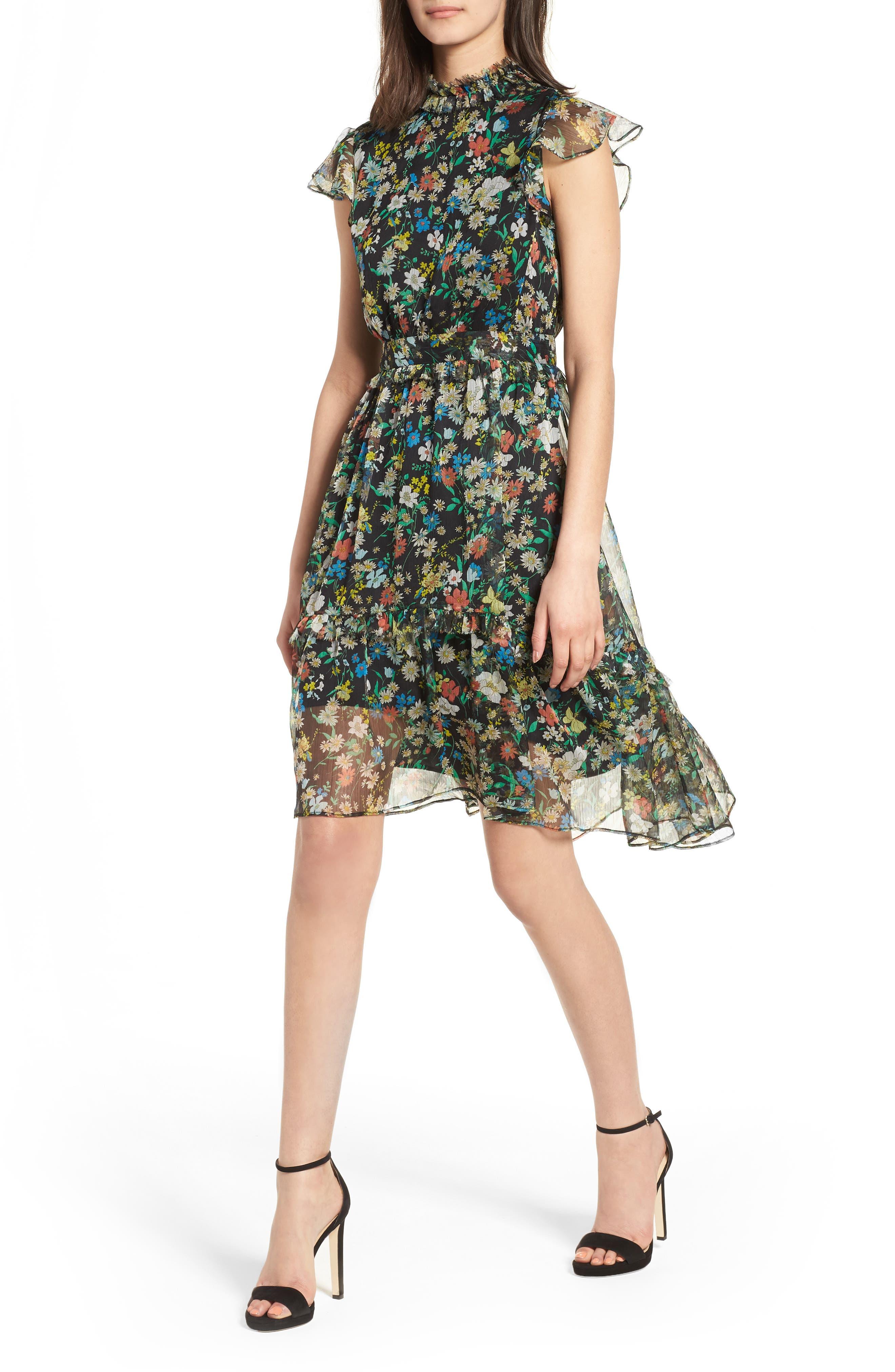 KENDALL + KYLIE Floral Print Dress