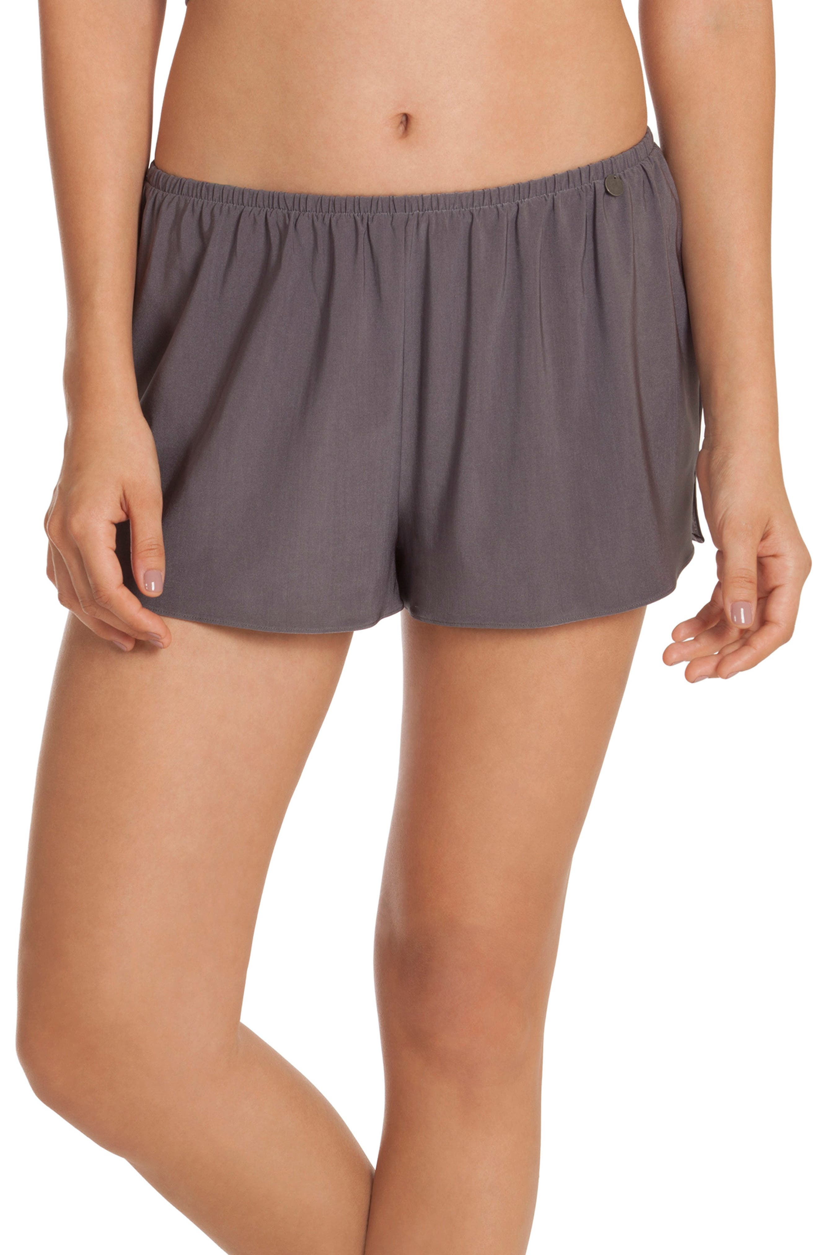 Pajama Shorts,                         Main,                         color, Charcoal