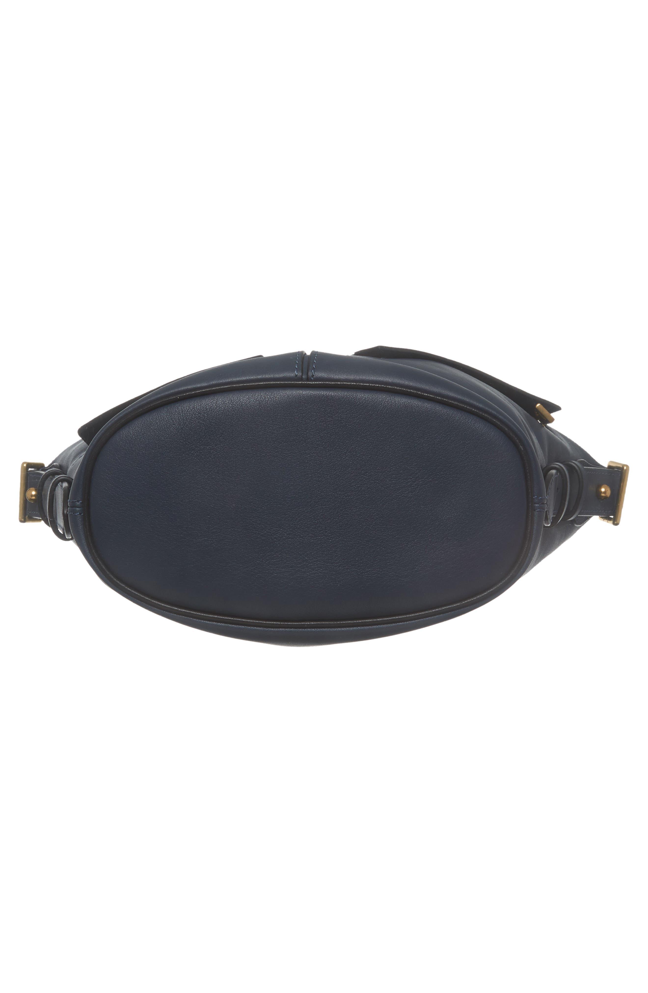 The Mini Sling Convertible Leather Hobo,                             Alternate thumbnail 6, color,                             Blue Sea