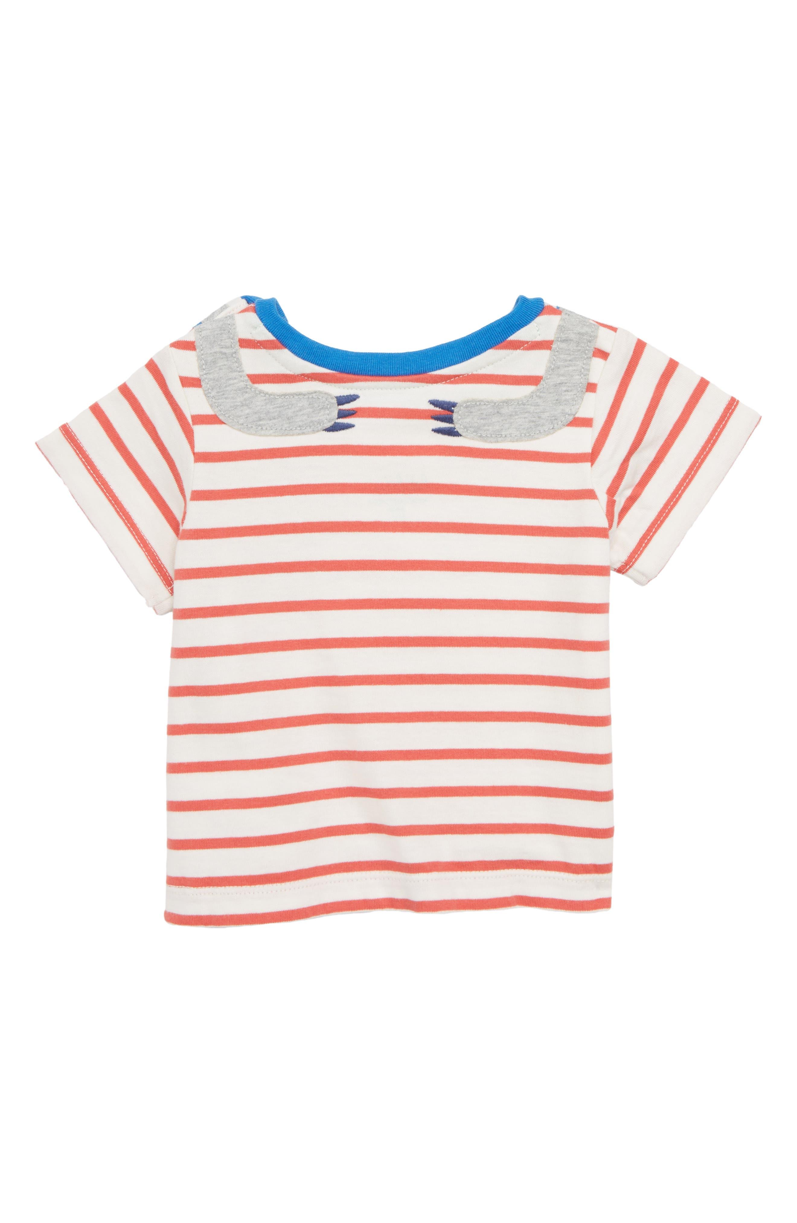 Sloth Appliqué T-Shirt,                             Alternate thumbnail 2, color,                             Crayon Red