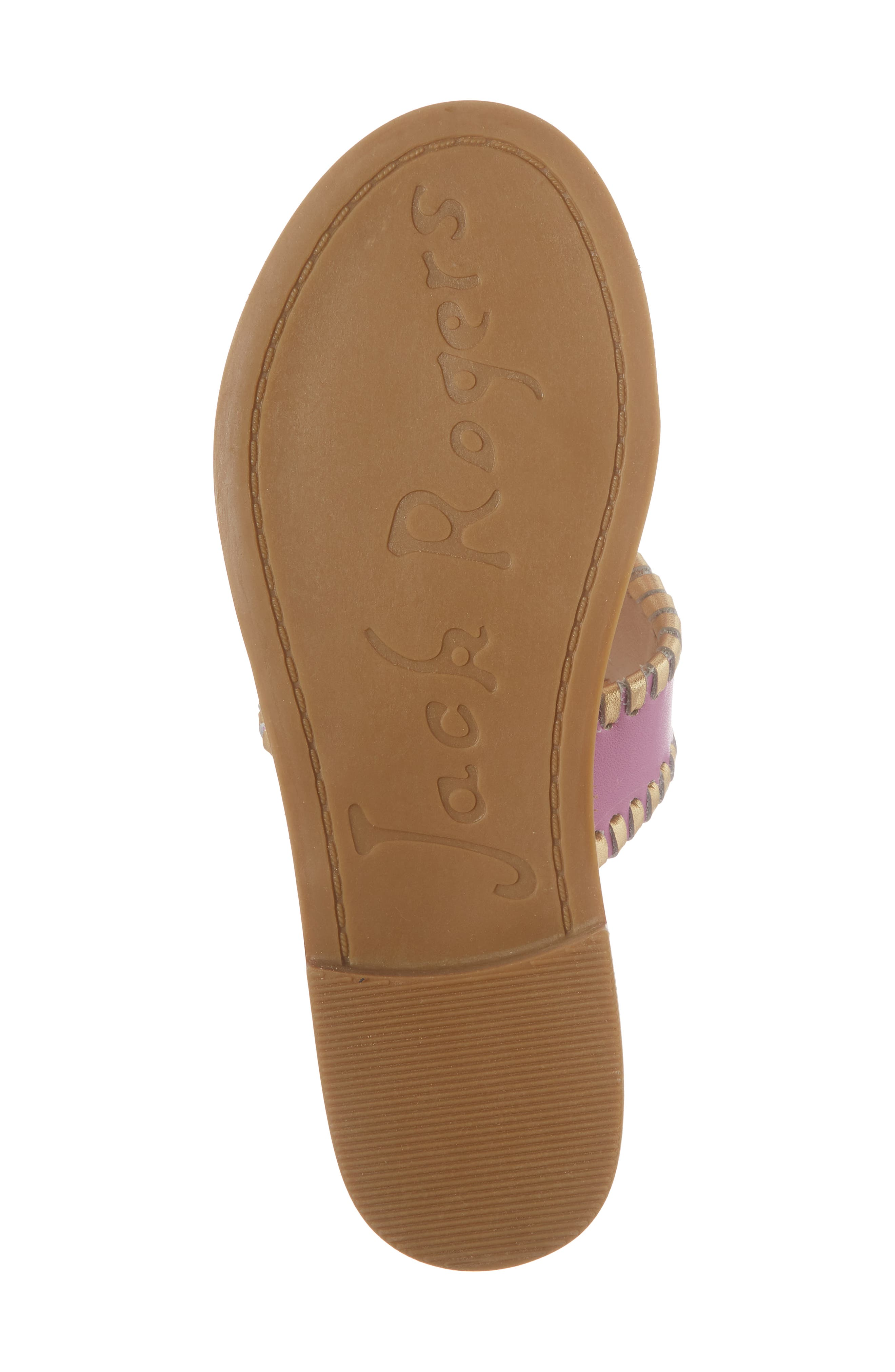 Miss Hollis Metallic Trim Thong Sandal,                             Alternate thumbnail 6, color,                             Lavender Pink/ Gold Leather