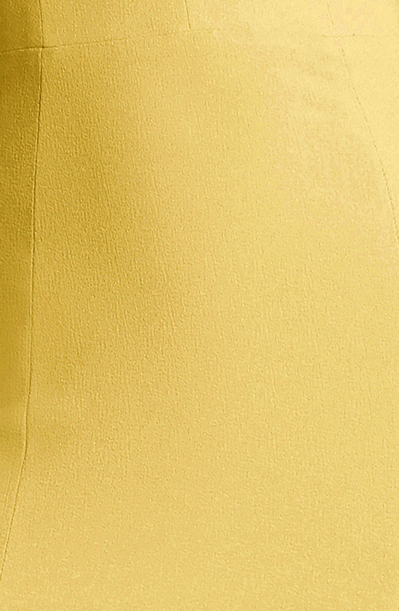 Iris Slit Crepe Gown,                             Alternate thumbnail 4, color,                             Sunflower