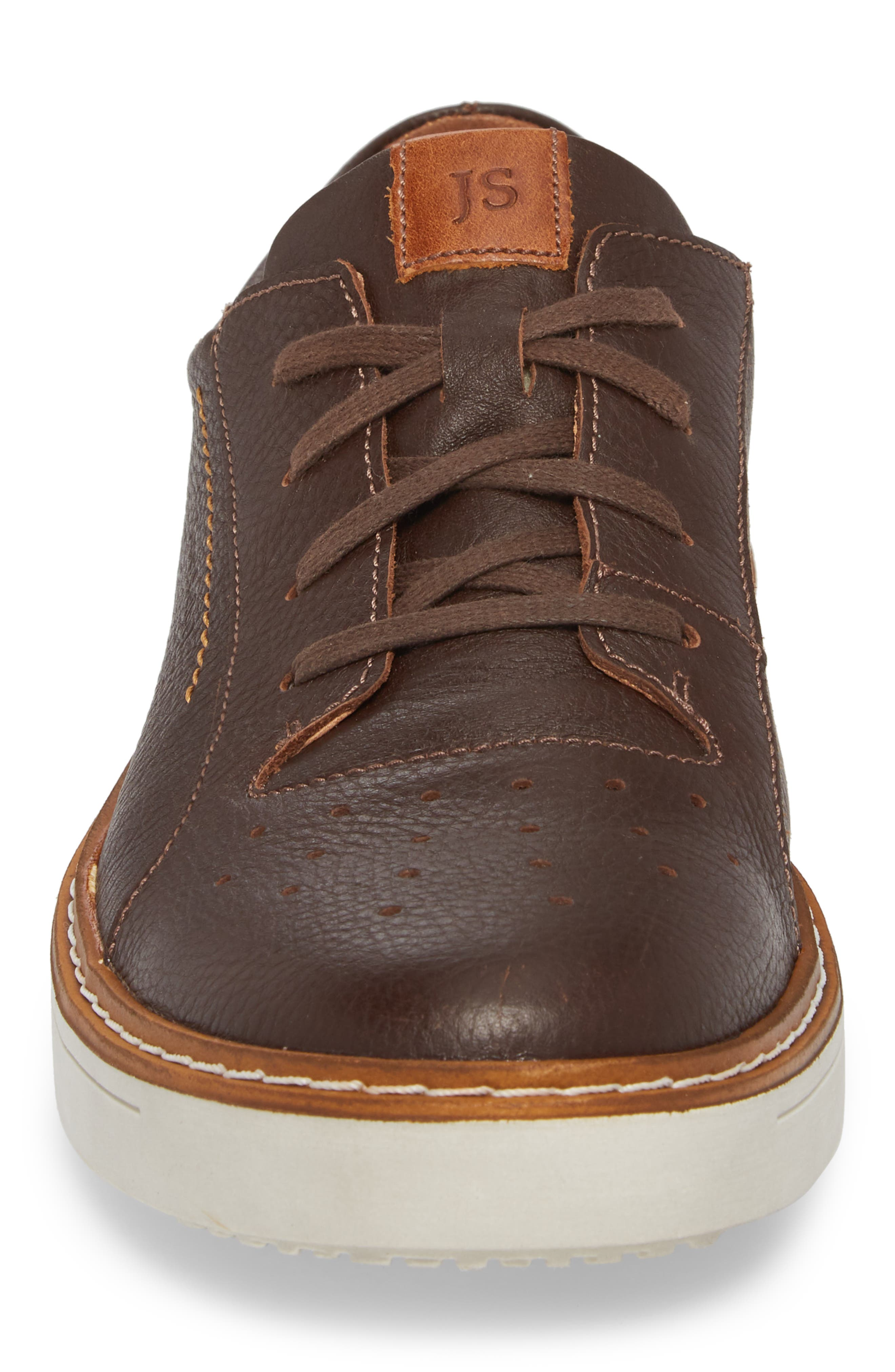 Quentin 03 Low Top Sneaker,                             Alternate thumbnail 4, color,                             Brown Kombi Leather