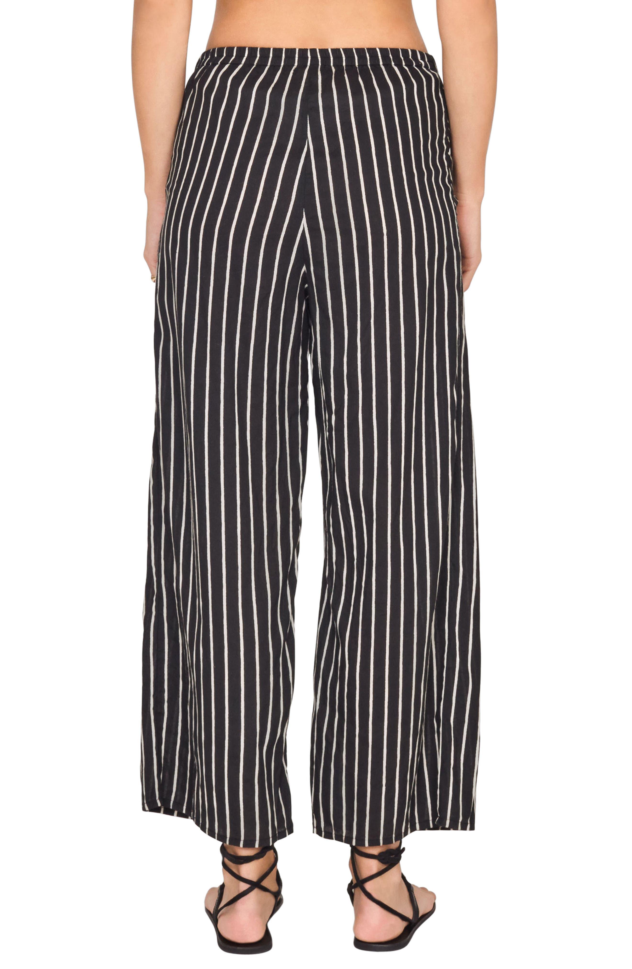 Blurred Lines Knot Front Pants,                             Alternate thumbnail 3, color,                             Black Sands
