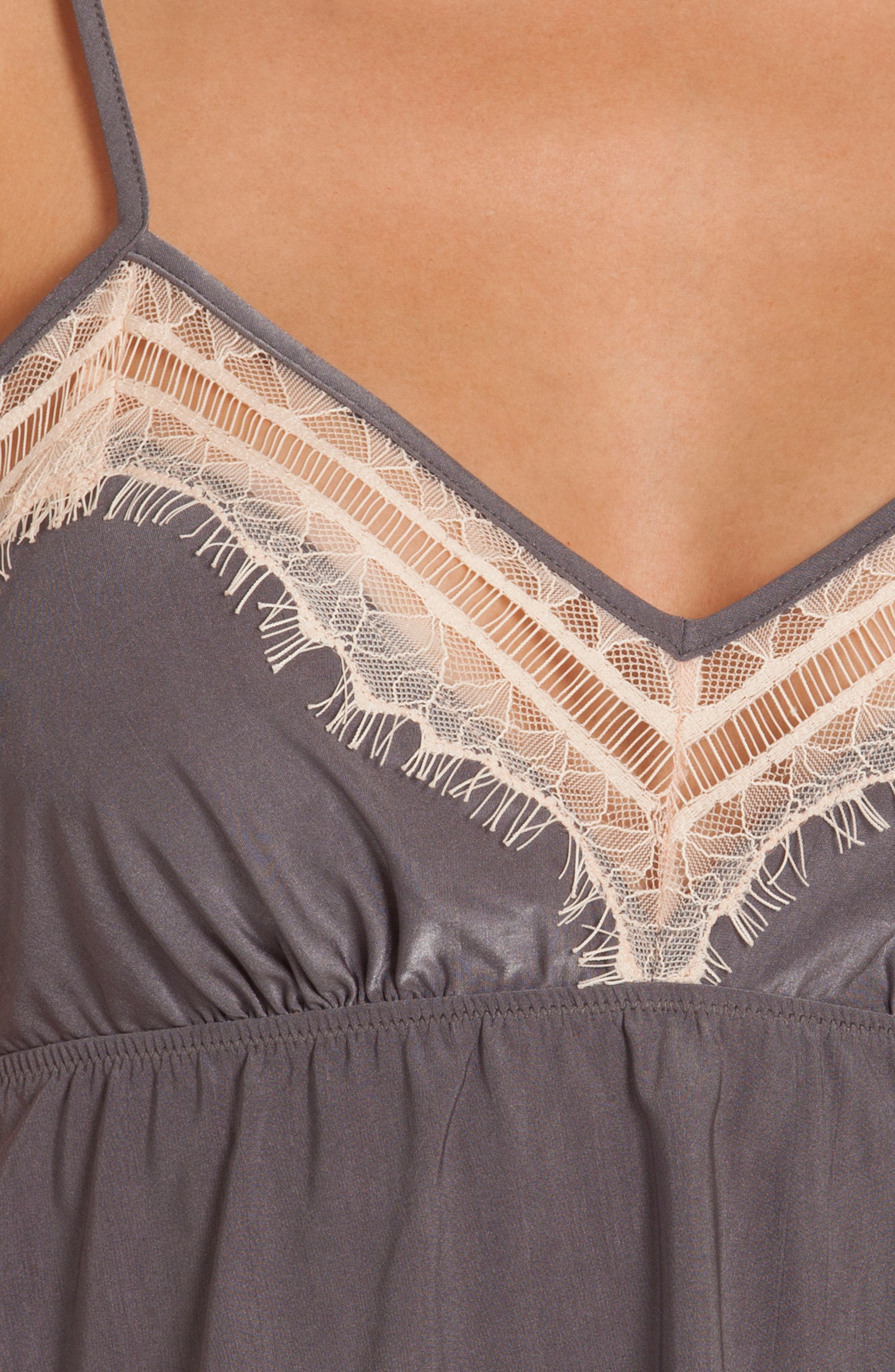 Cropped Camisole,                             Alternate thumbnail 5, color,                             Charcoal