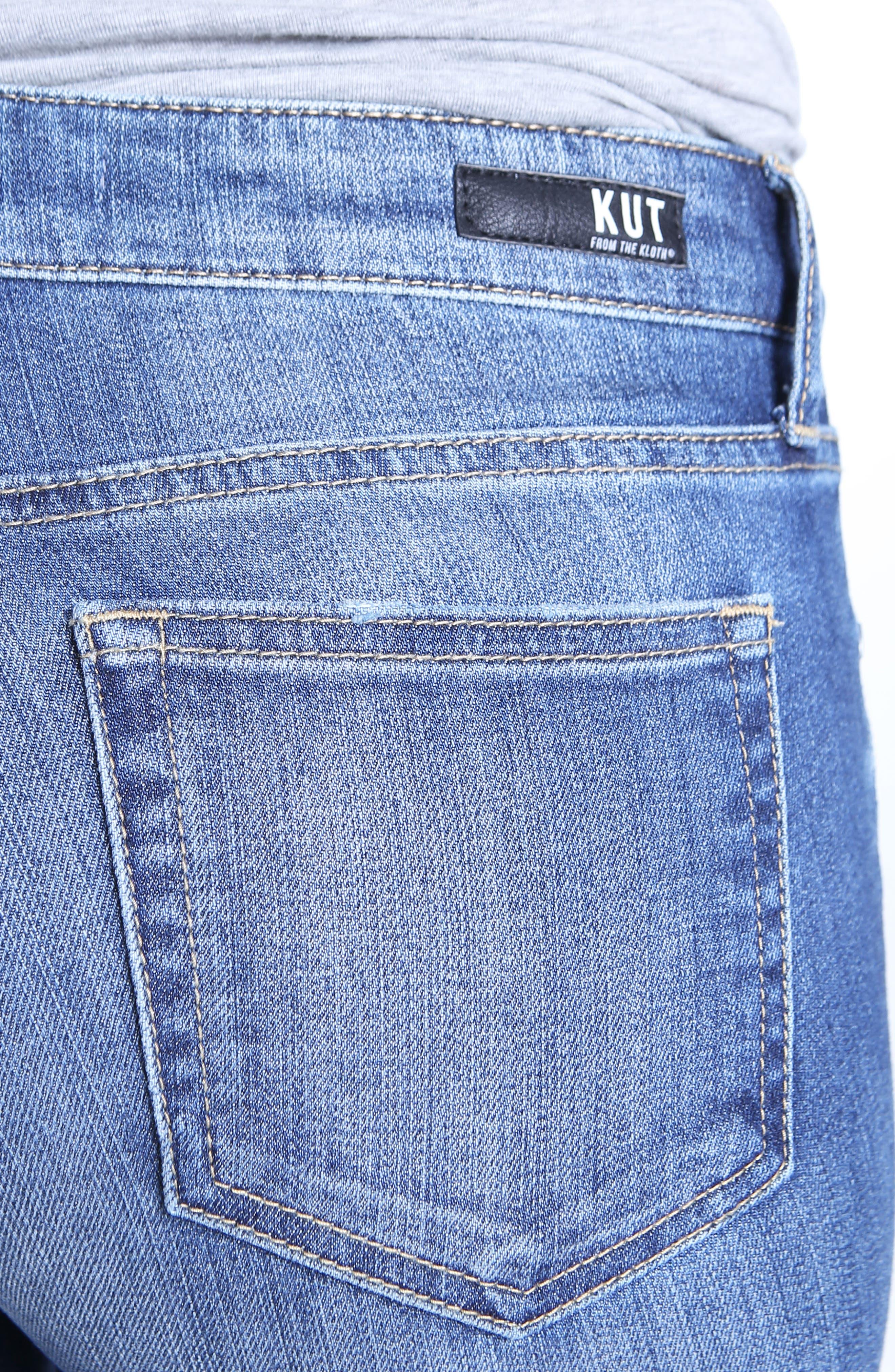 Uma Boyfriend Jeans,                             Alternate thumbnail 5, color,                             Improvise