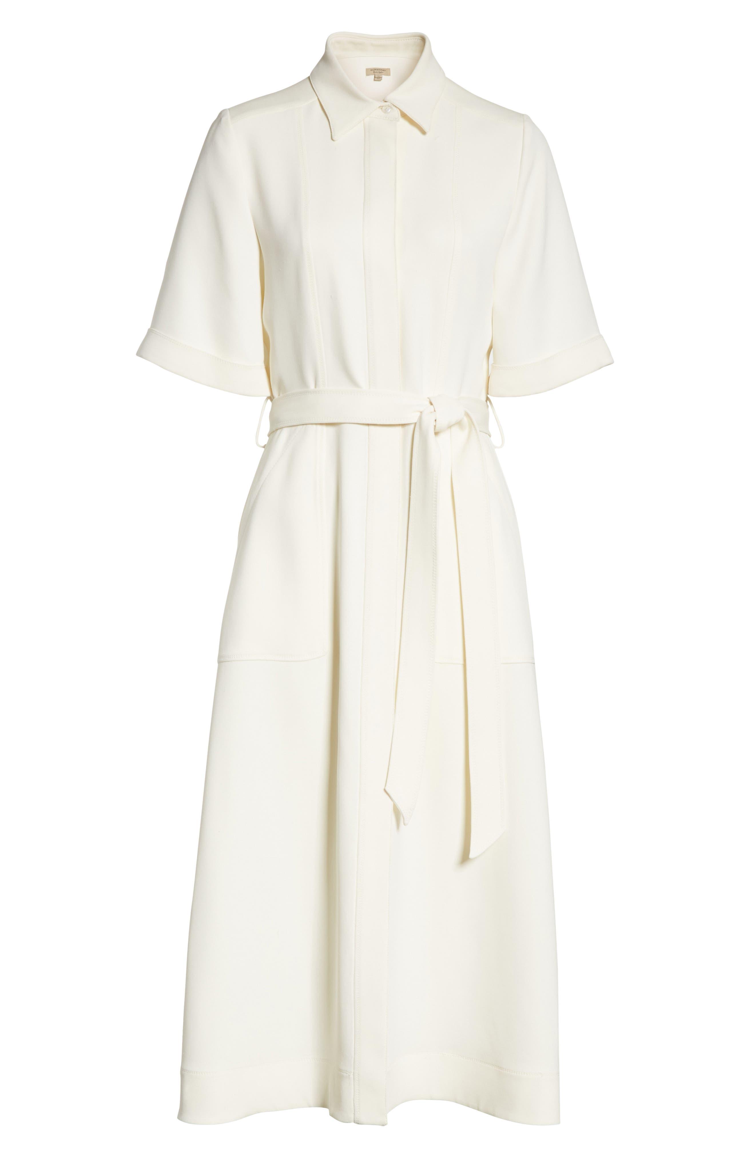 Carmen Belted Shirtdress,                             Alternate thumbnail 7, color,                             Off White